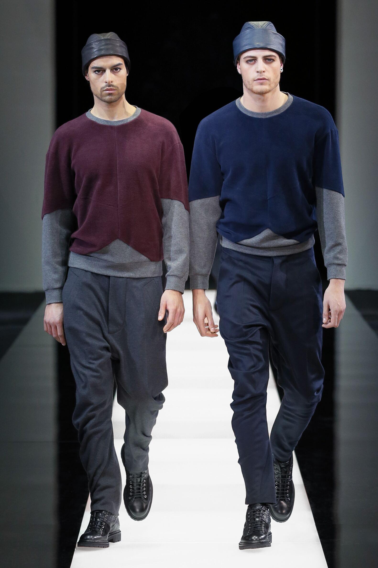 Catwalk Giorgio Armani Collection Fashion Show Winter 2015