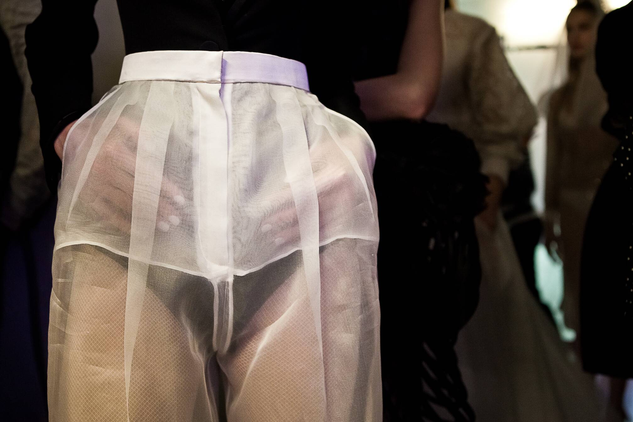Detail Jean Paul Gaultier Haute Couture Backstage Spring Summer 2015