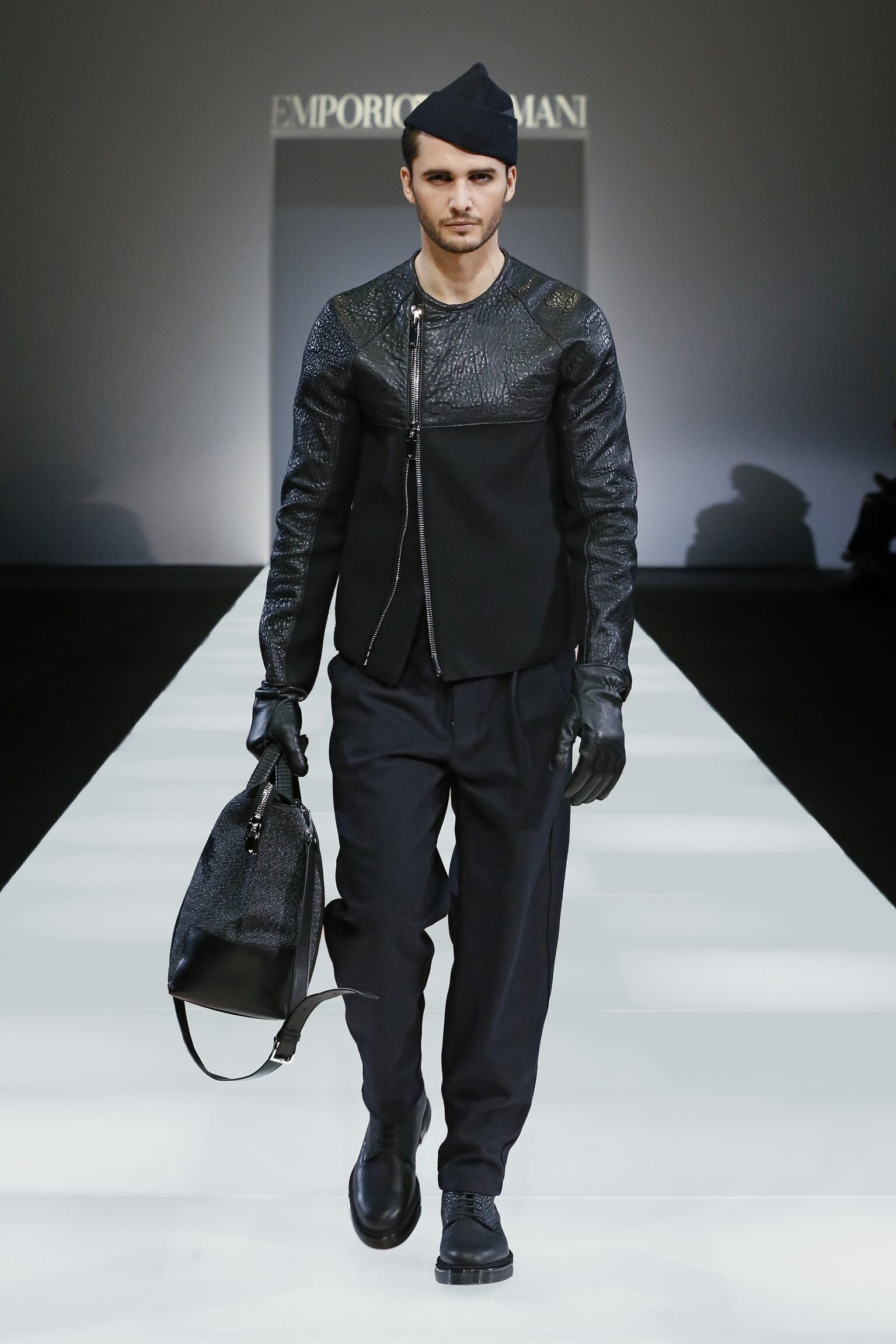 Emporio Armani Collection Fall 2015 Catwalk