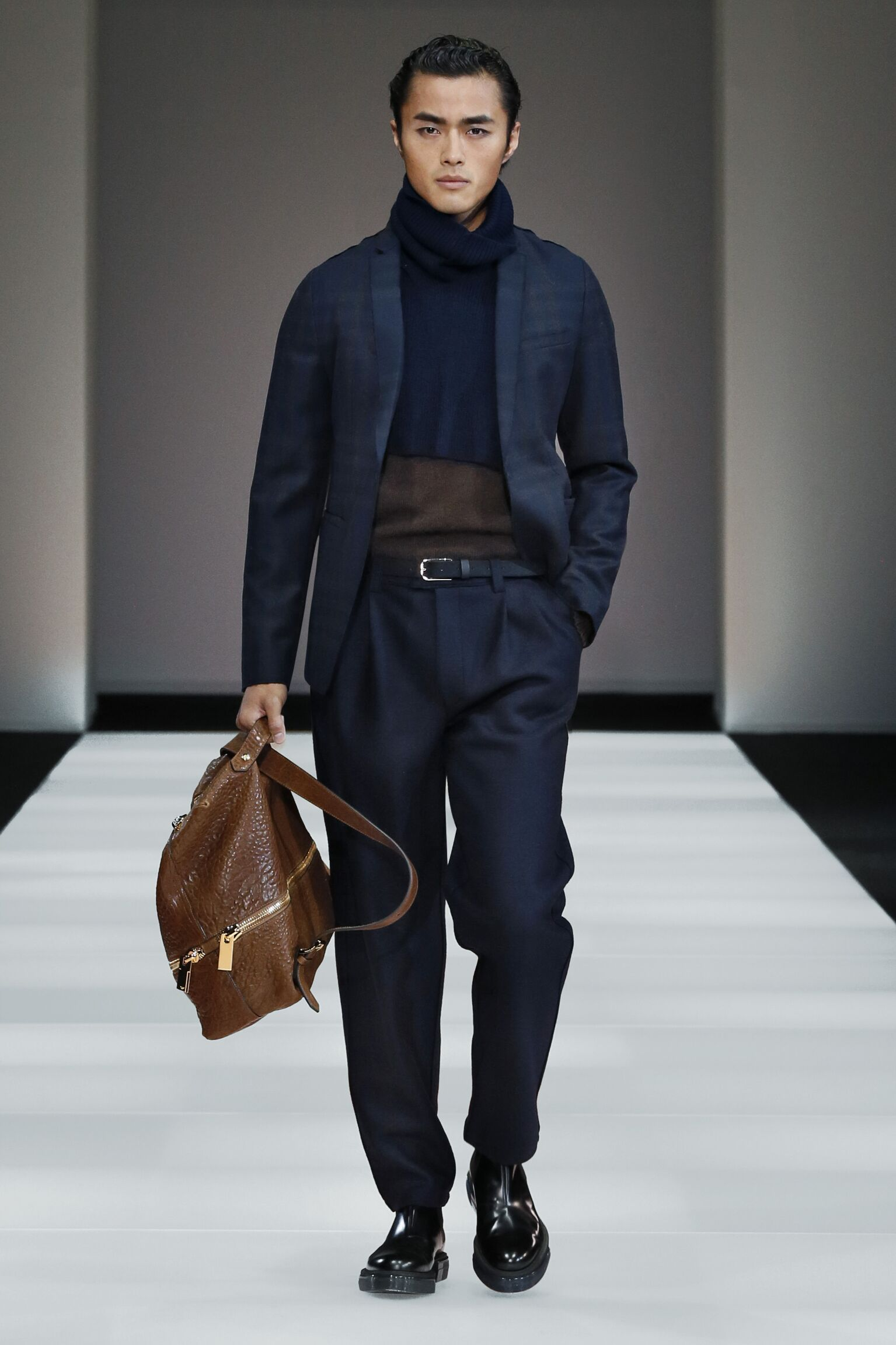 Emporio Armani Collection Men's FW 2015 16 Fashion Show