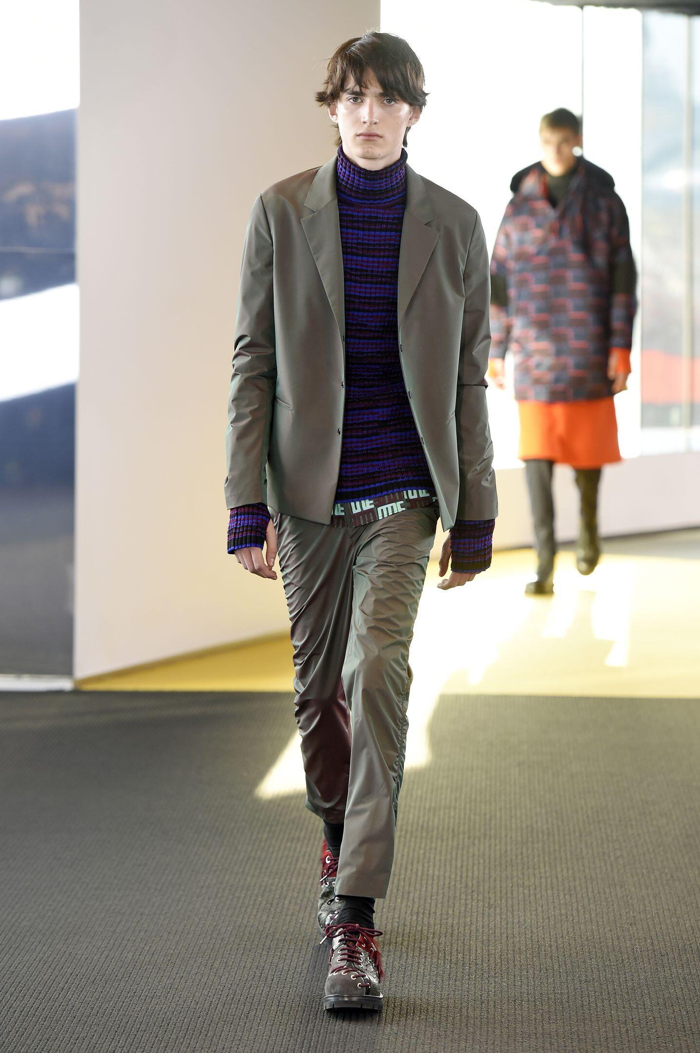 Fall Kenzo Collection Fashion Men Model