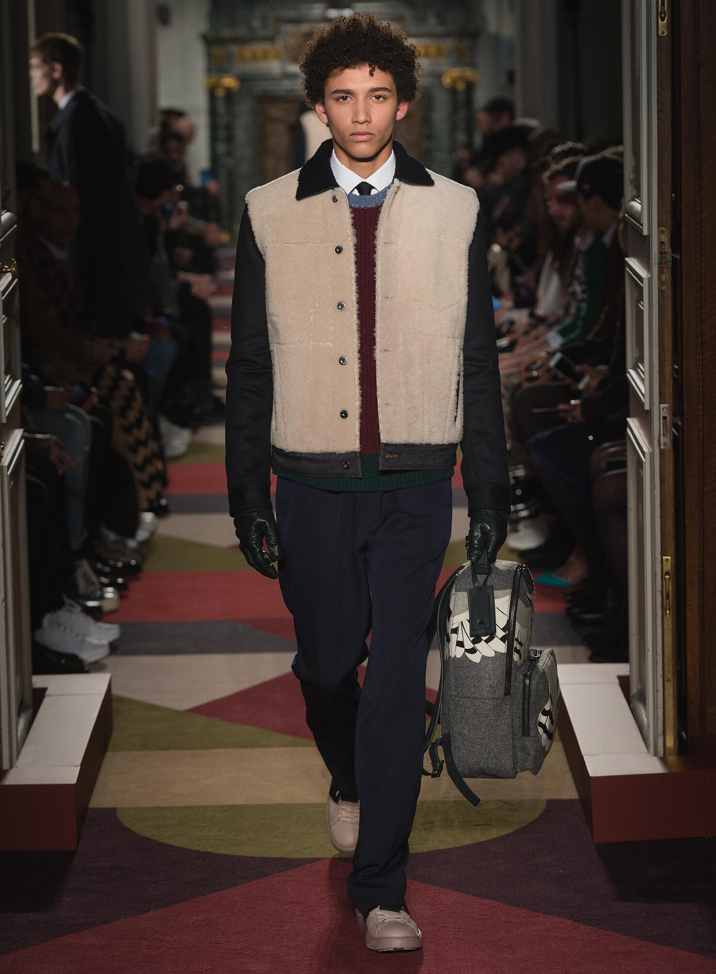 Fall Valentino Collection Fashion Men Model