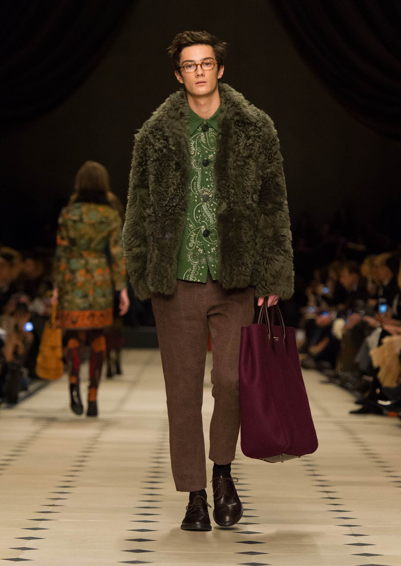 Fashion Man Model Burberry Prorsum Collection Catwalk
