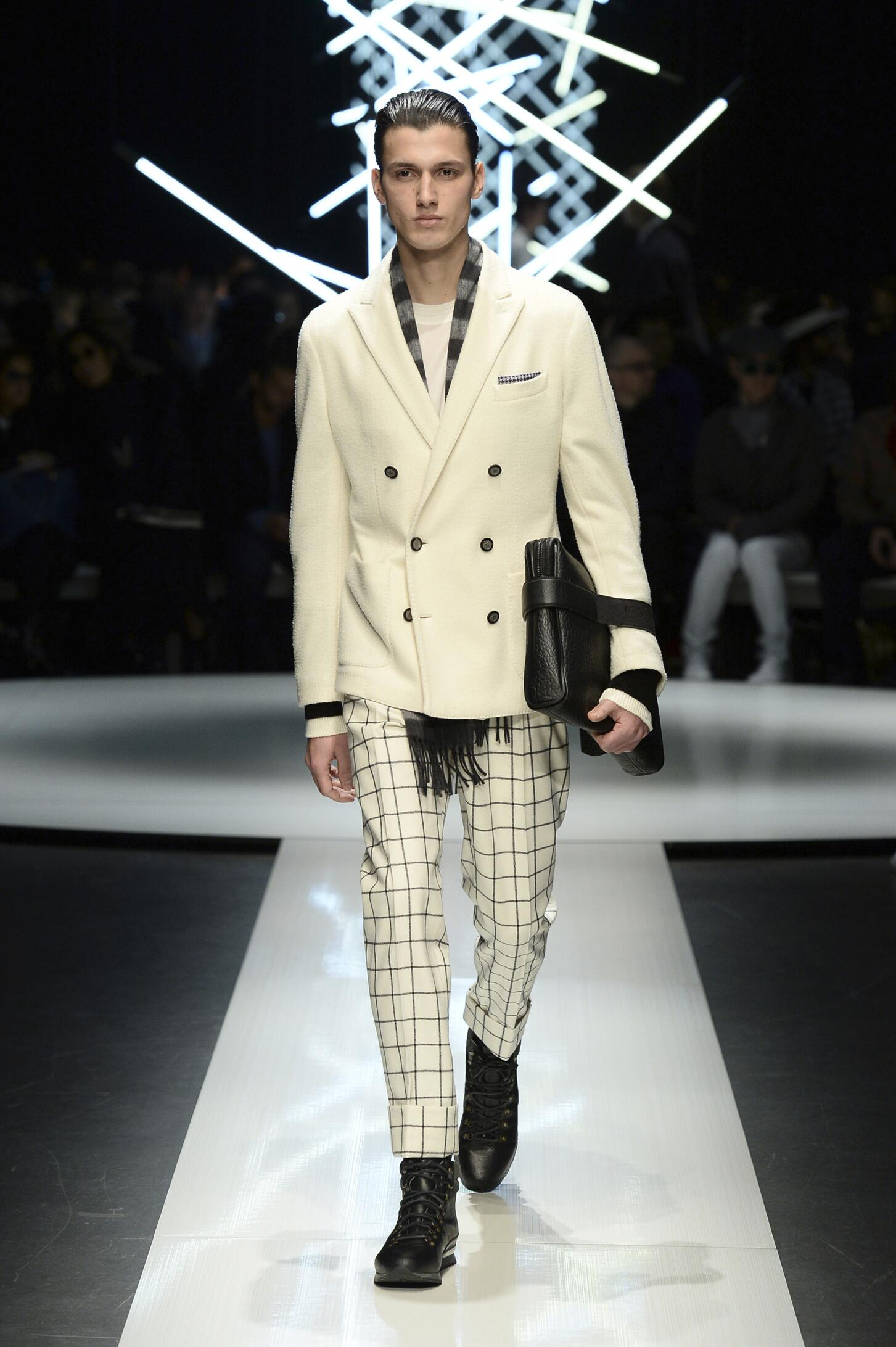 Fashion Man Model Canali Collection Catwalk