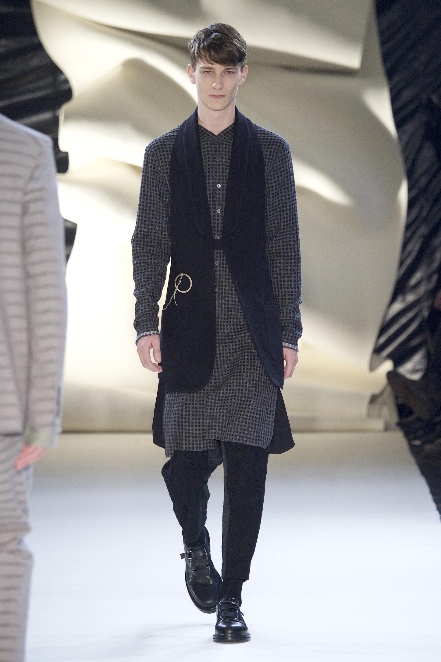 Fashion Man Model Damir Doma Collection Catwalk