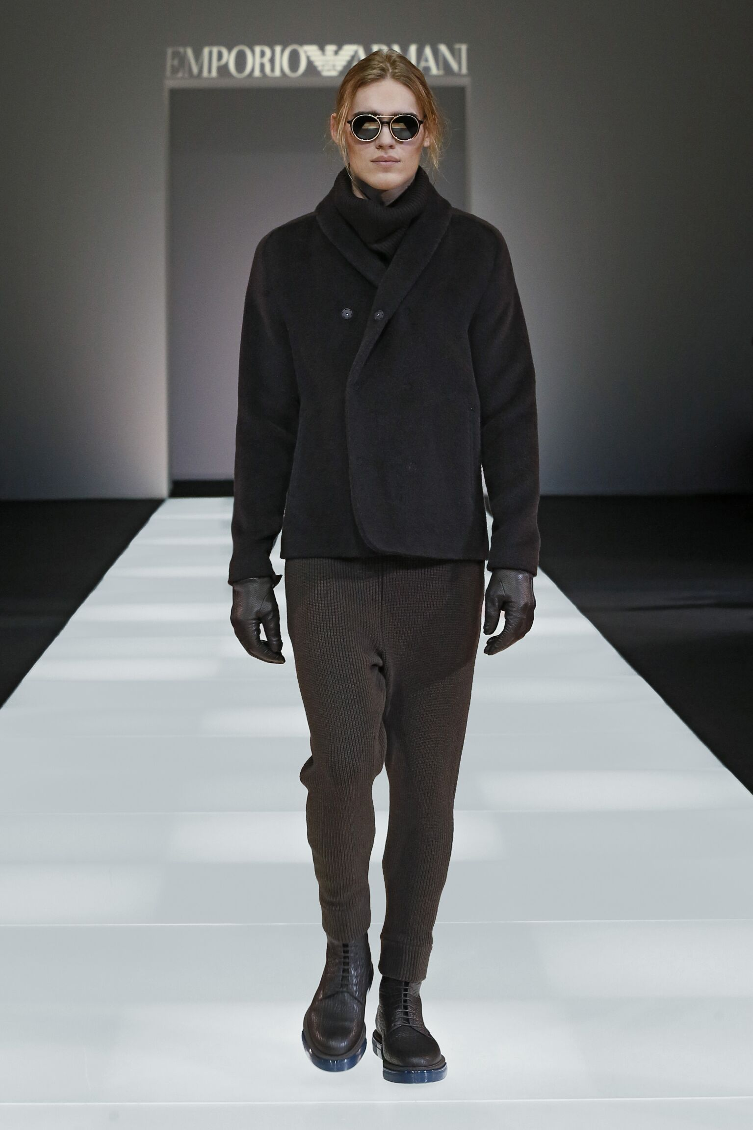 Fashion Man Model Emporio Armani Collection Catwalk