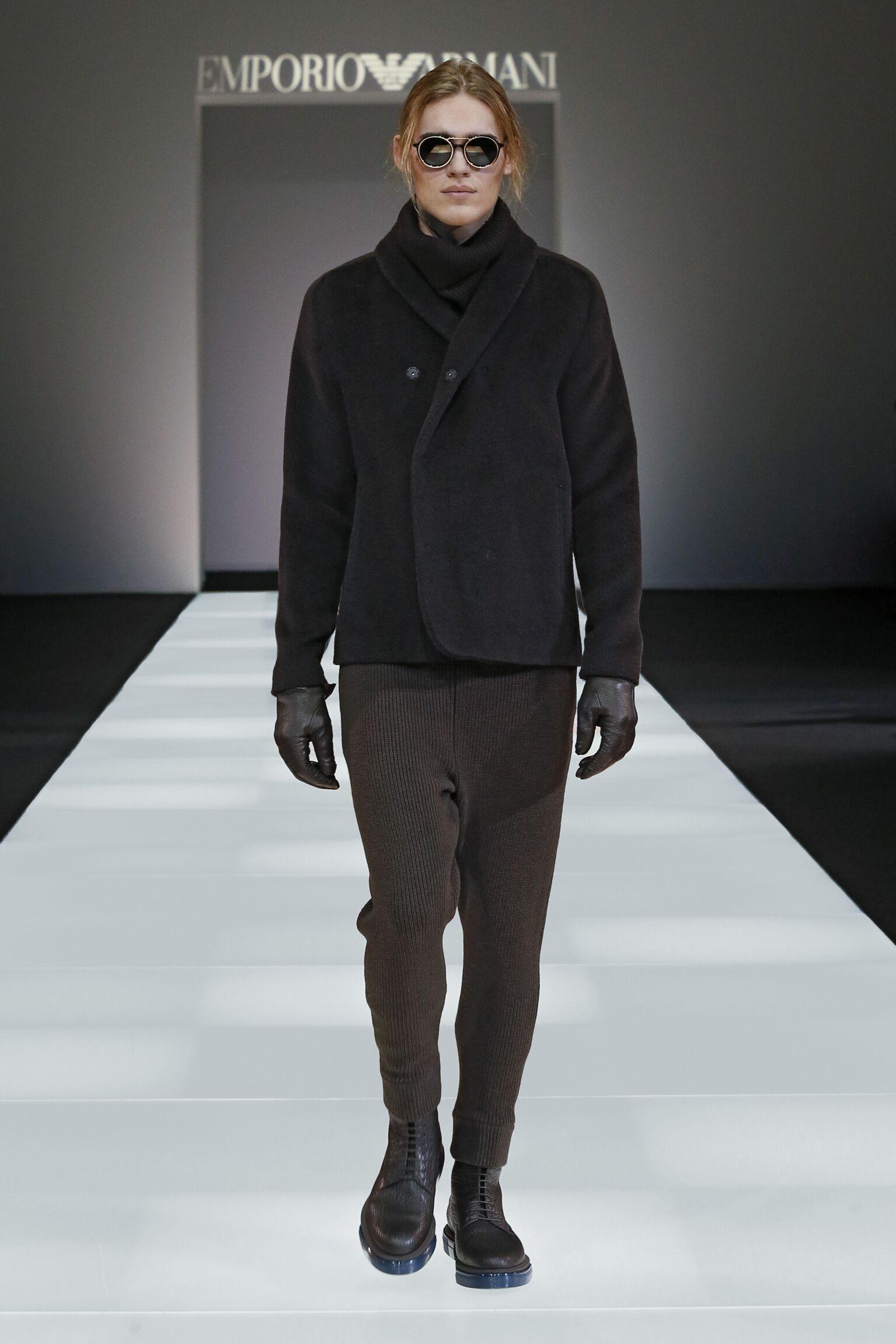 Fashion Man Model Emporio Armani Collection Catwalk