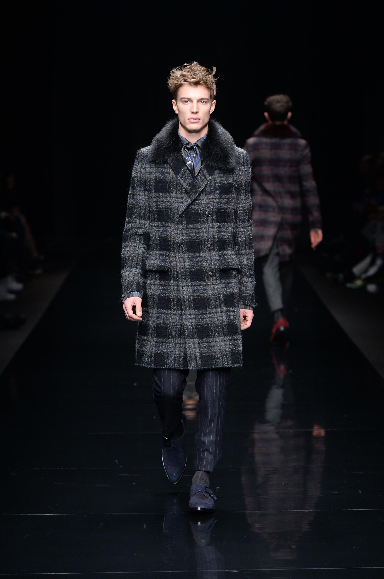 Fashion Man Model Ermanno Scervino Collection Catwalk