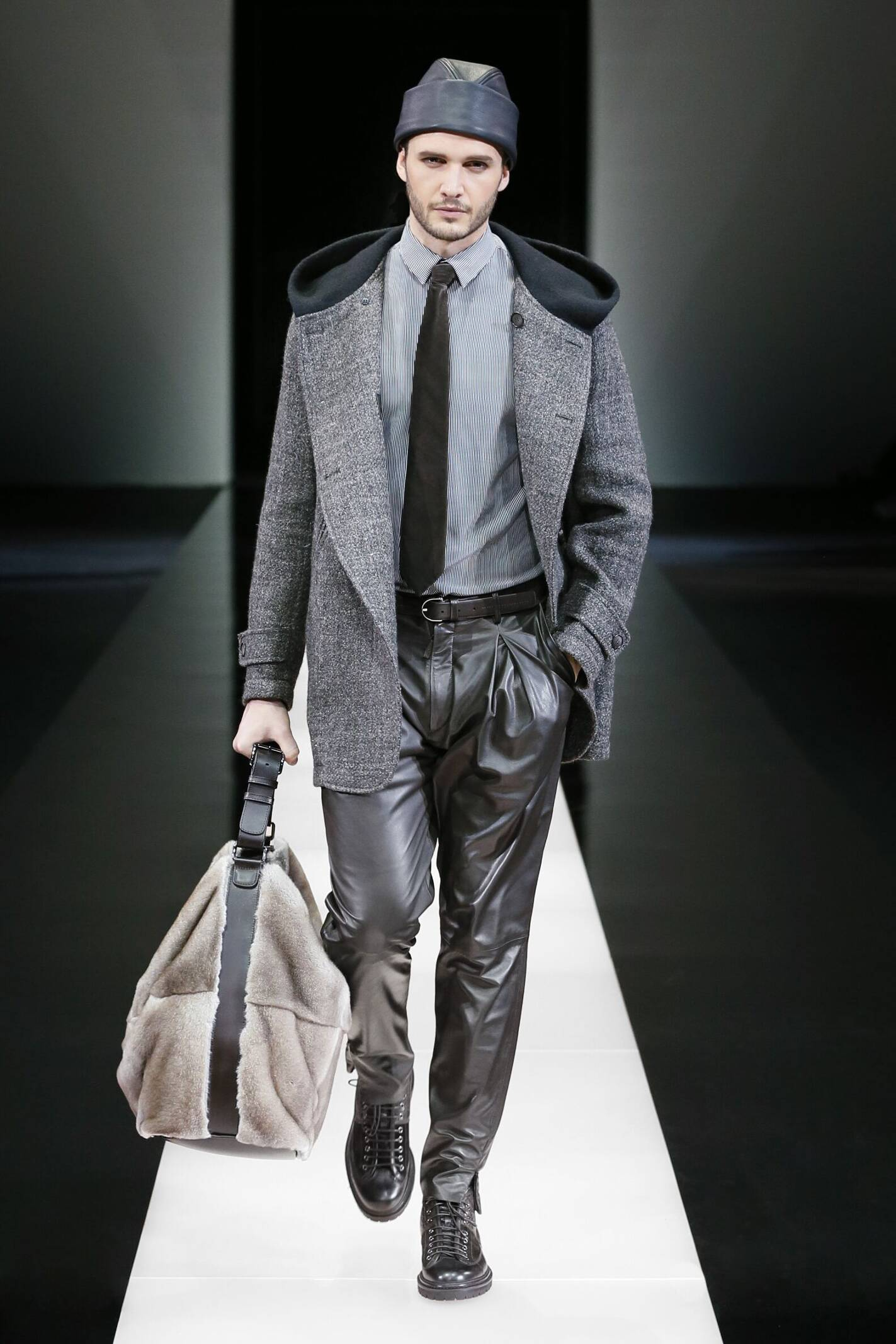 Fashion Man Model Giorgio Armani Collection Catwalk