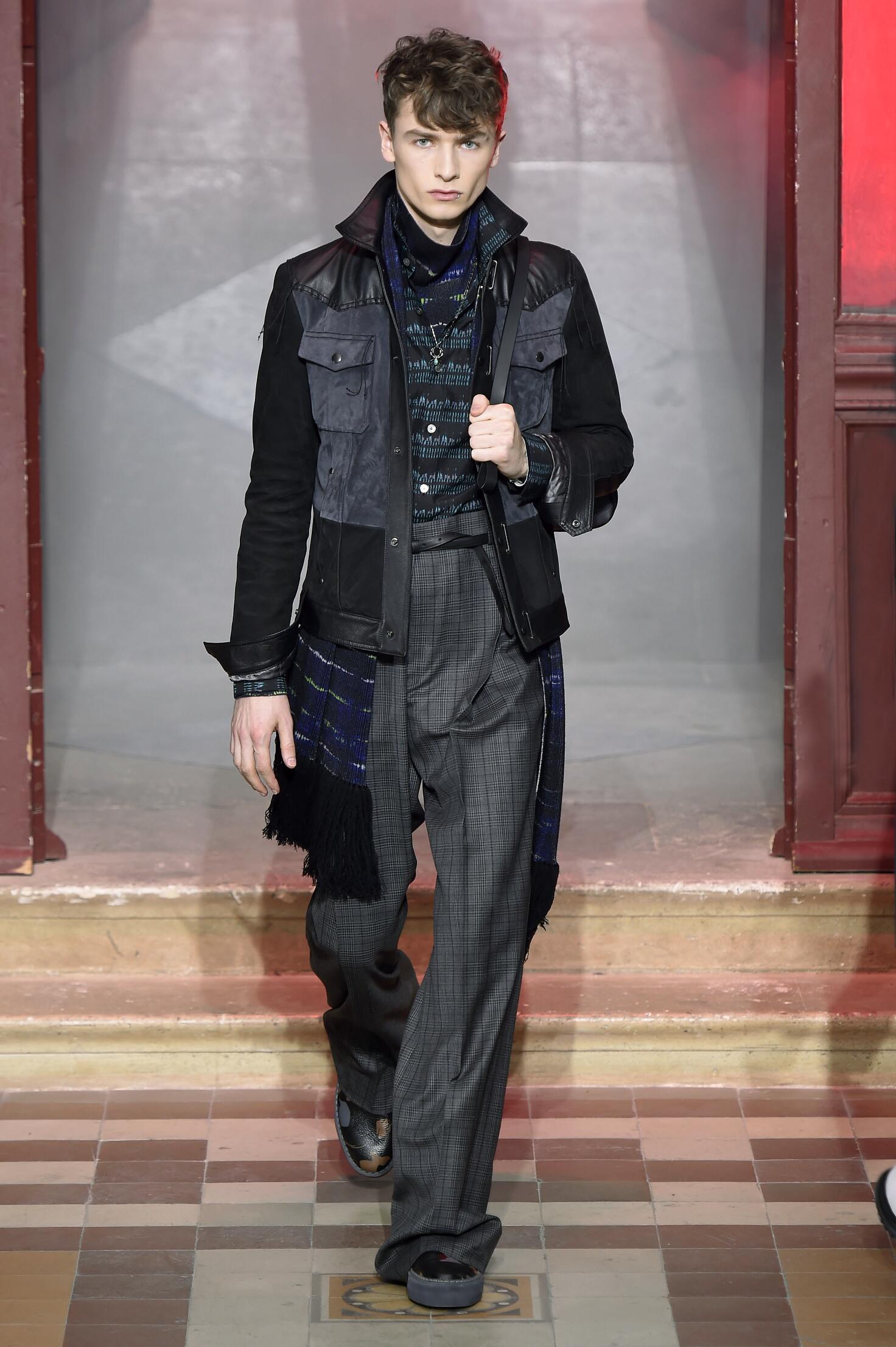 Fashion Man Model Lanvin Collection Catwalk