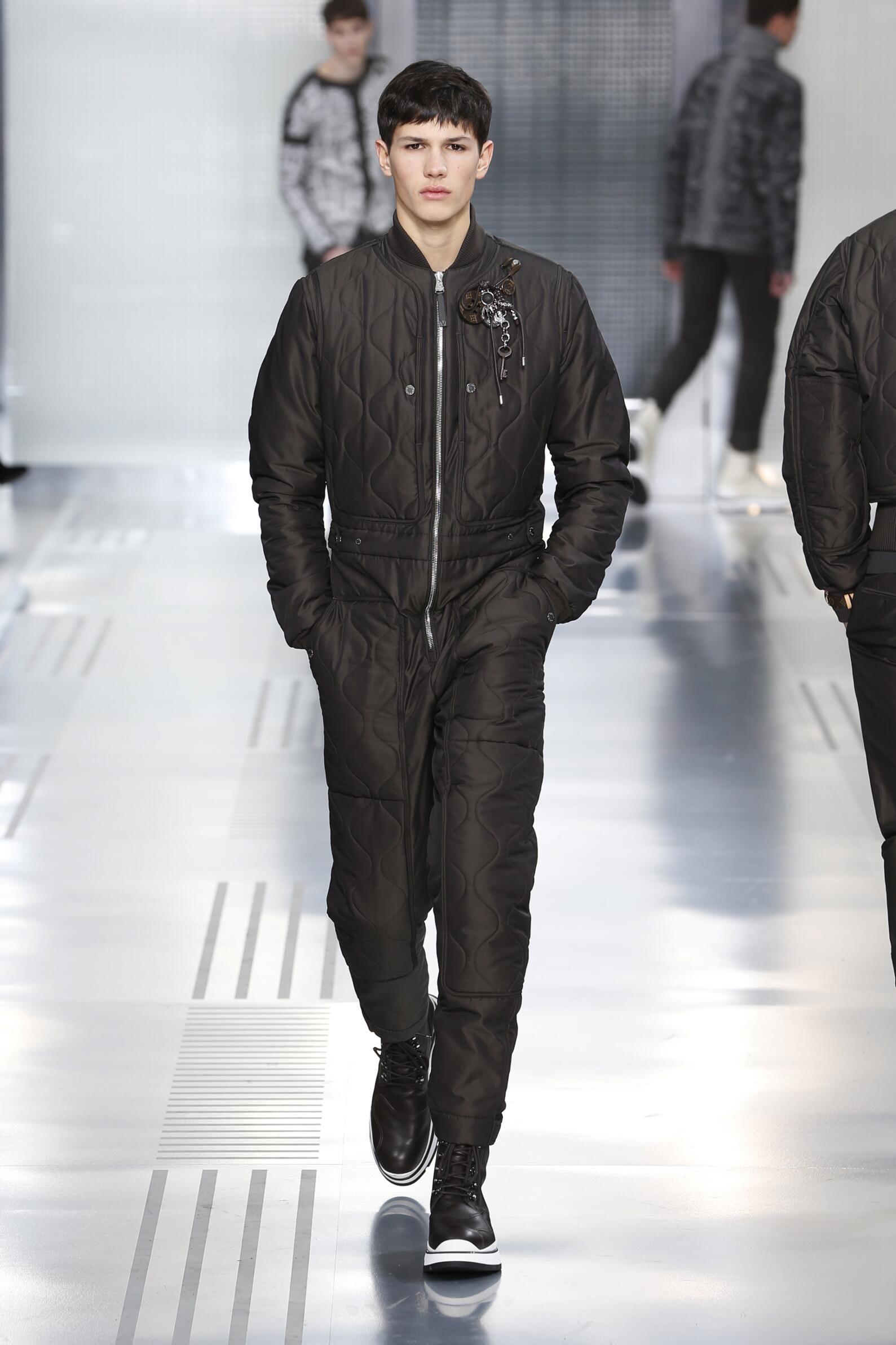 Fashion Man Model Louis Vuitton Collection Catwalk