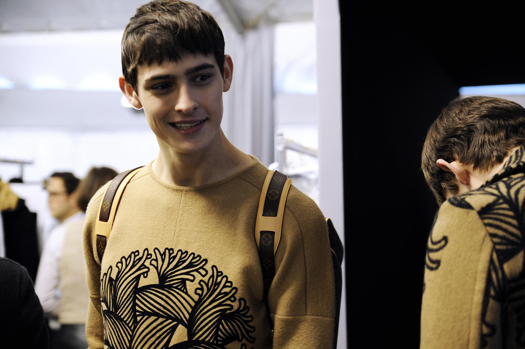 Fashion Model Backstage Louis Vuitton FW 2015 Paris Fashion Week