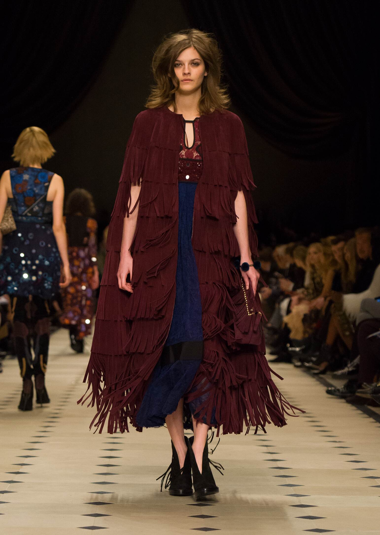 Fashion Model Burberry Prorsum Collection Catwalk