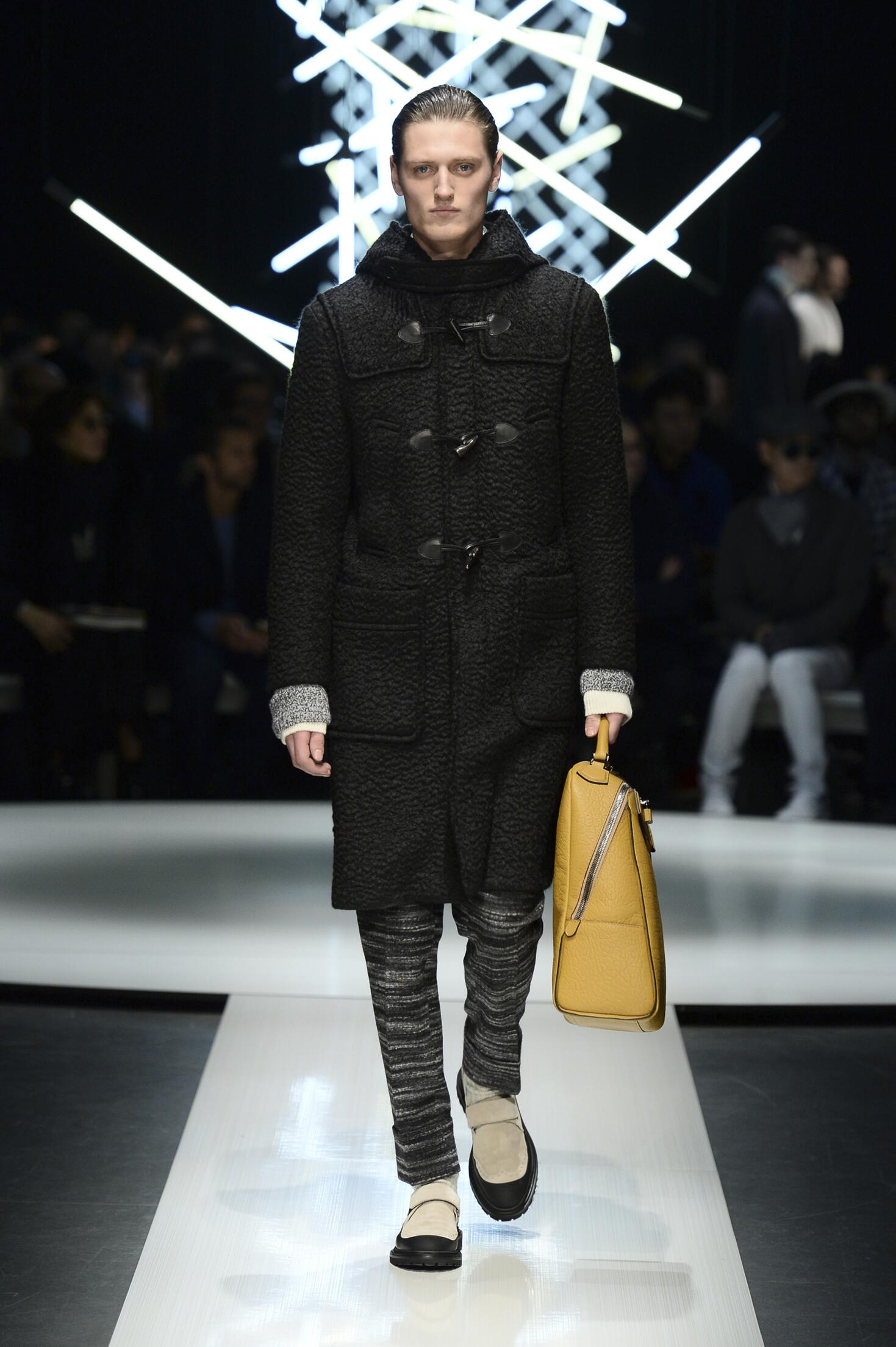 Fashion Model Canali Collection Catwalk