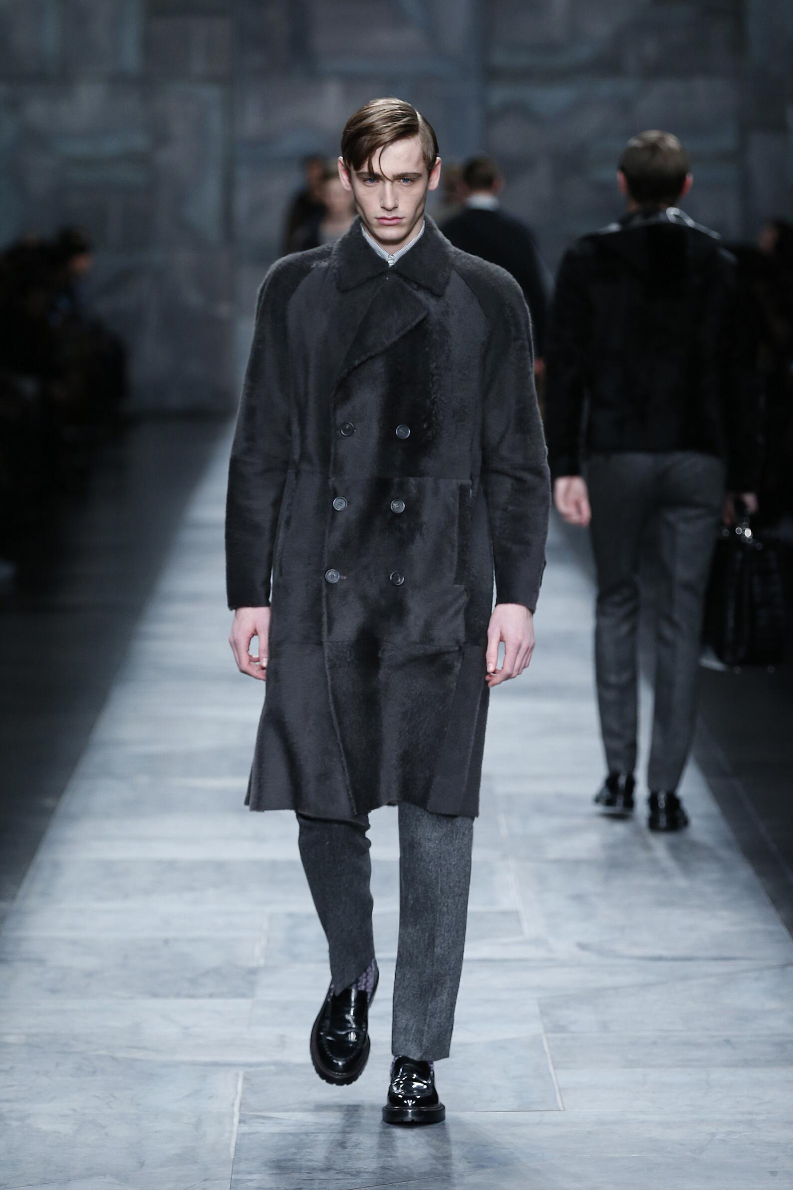 Fashion Model Fendi Collection Catwalk