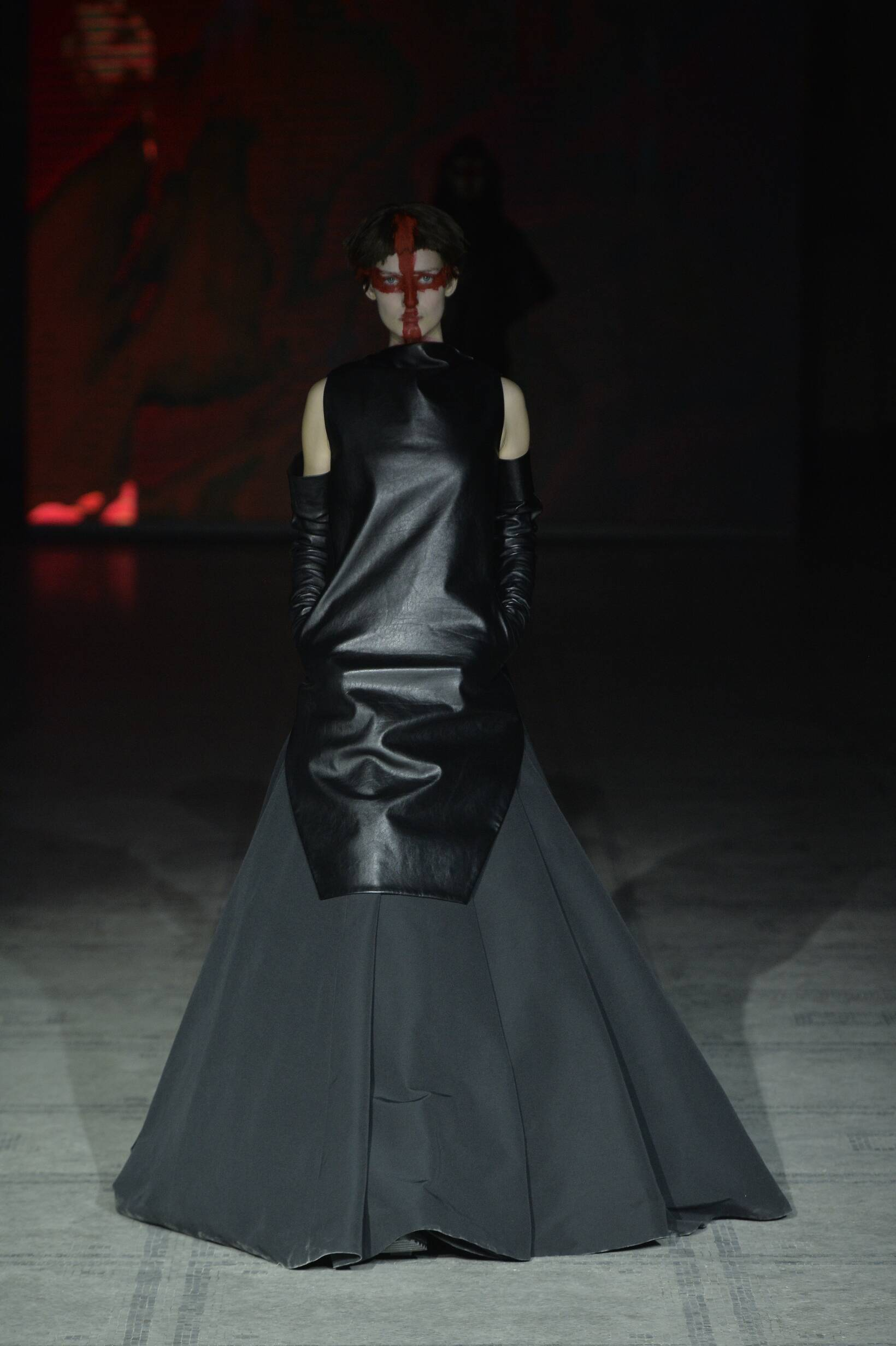 Fashion Model Gareth Pugh Collection Catwalk