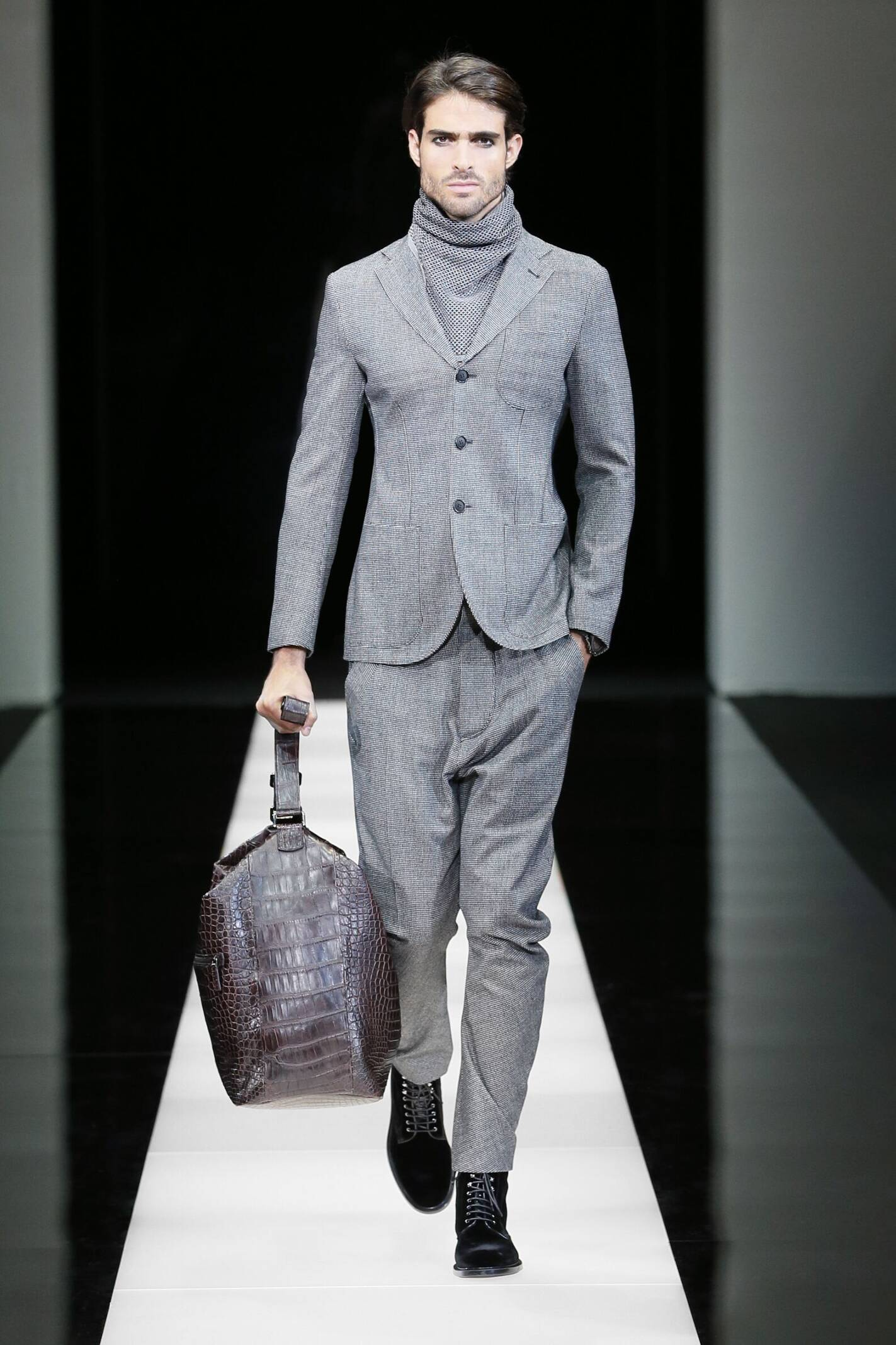 Fashion Model Giorgio Armani Collection Catwalk