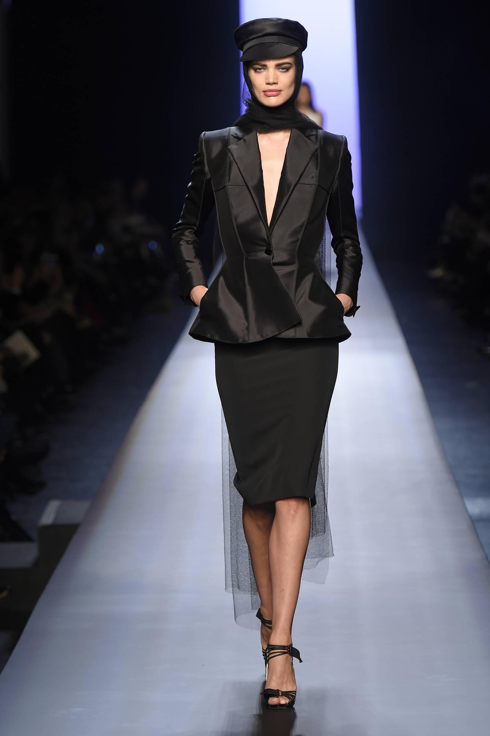 Fashion Model Jean Paul Gaultier Haute Couture Collection Catwalk