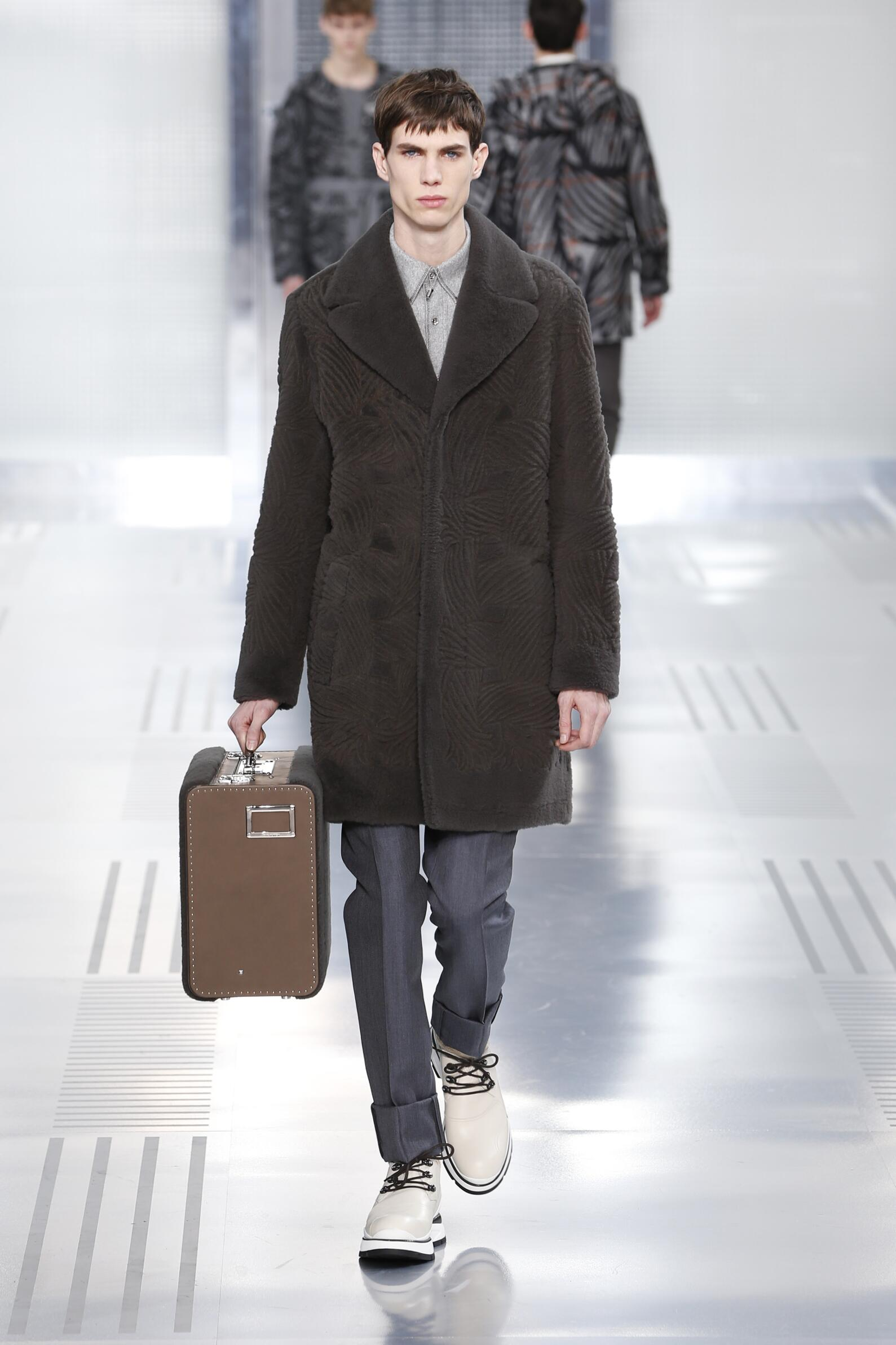 Fashion Model Louis Vuitton Collection Catwalk
