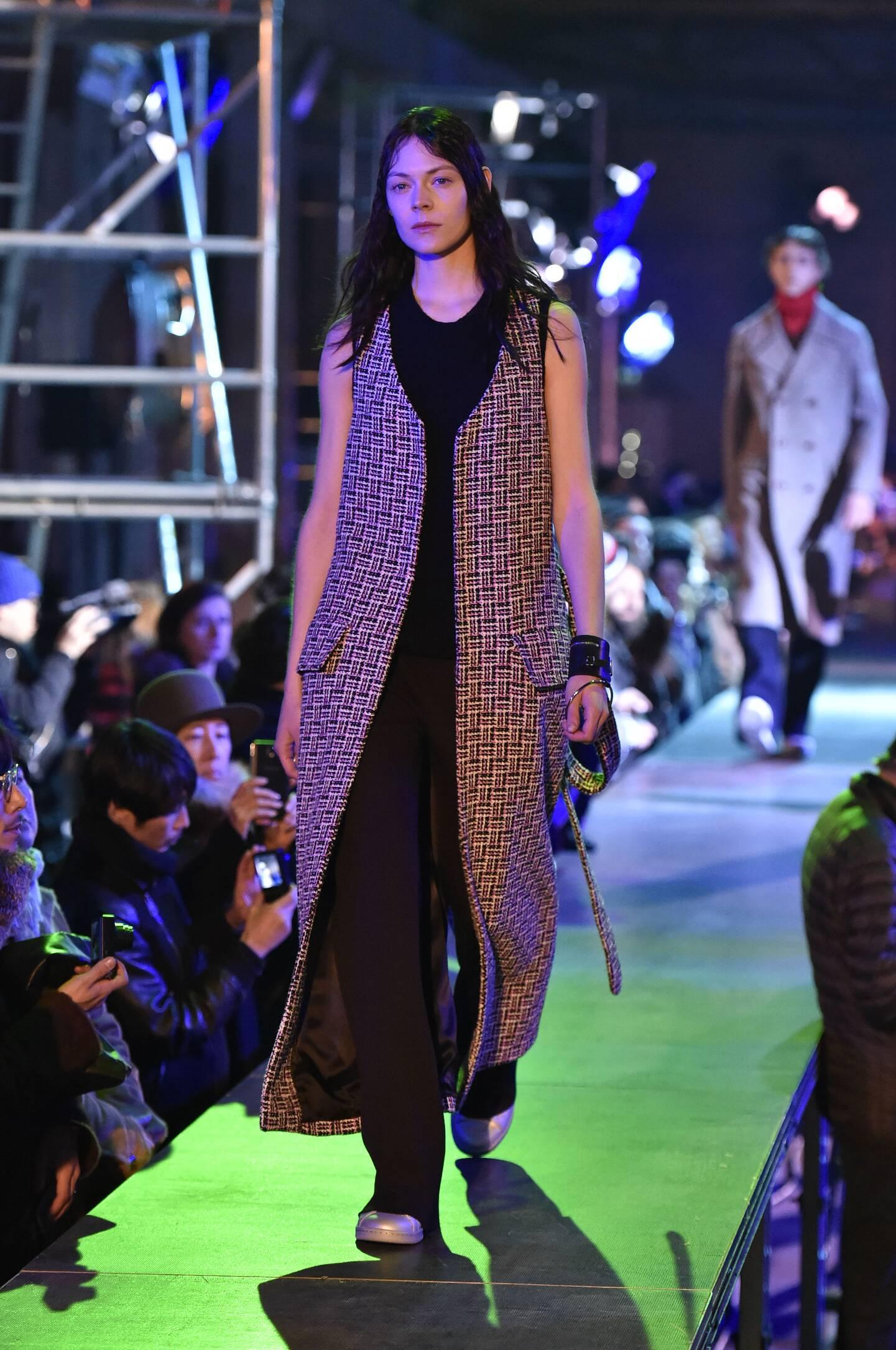 Fashion Model Raf Simons Collection Catwalk