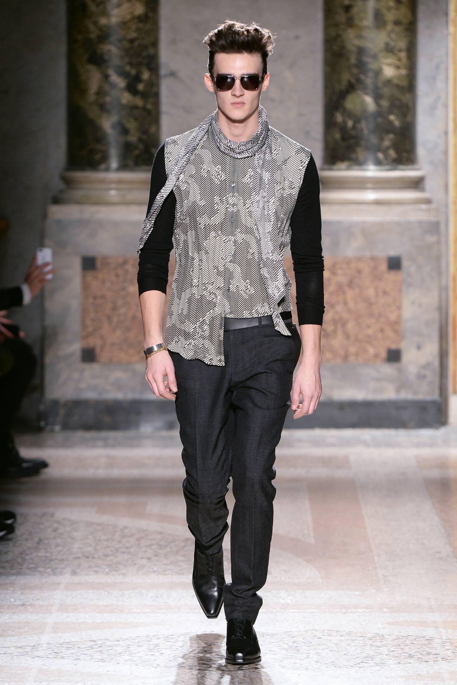 Fashion Model Roberto Cavalli Collection Catwalk