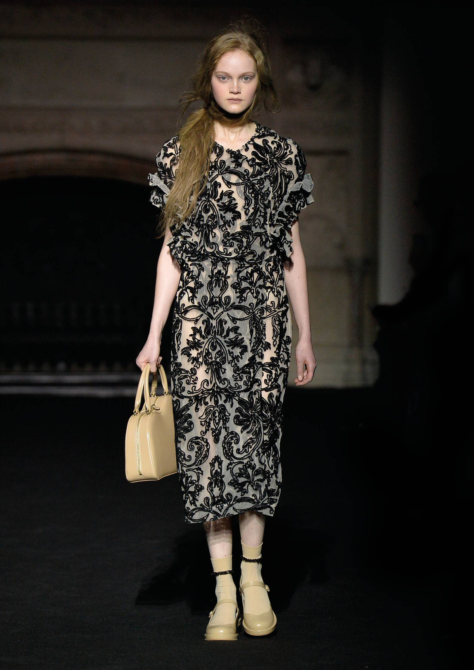 Fashion Model Simone Rocha Collection Catwalk