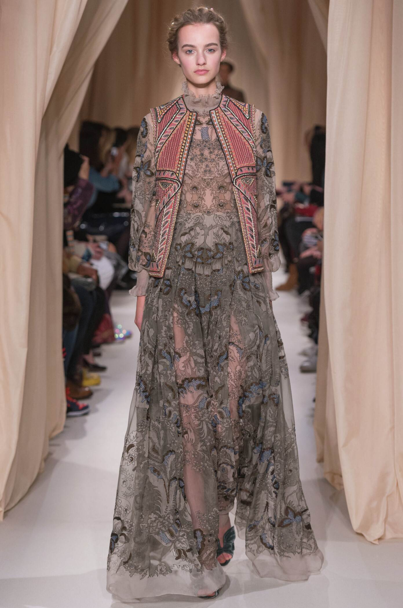 Fashion Model Valentino Haute Couture Collection Catwalk