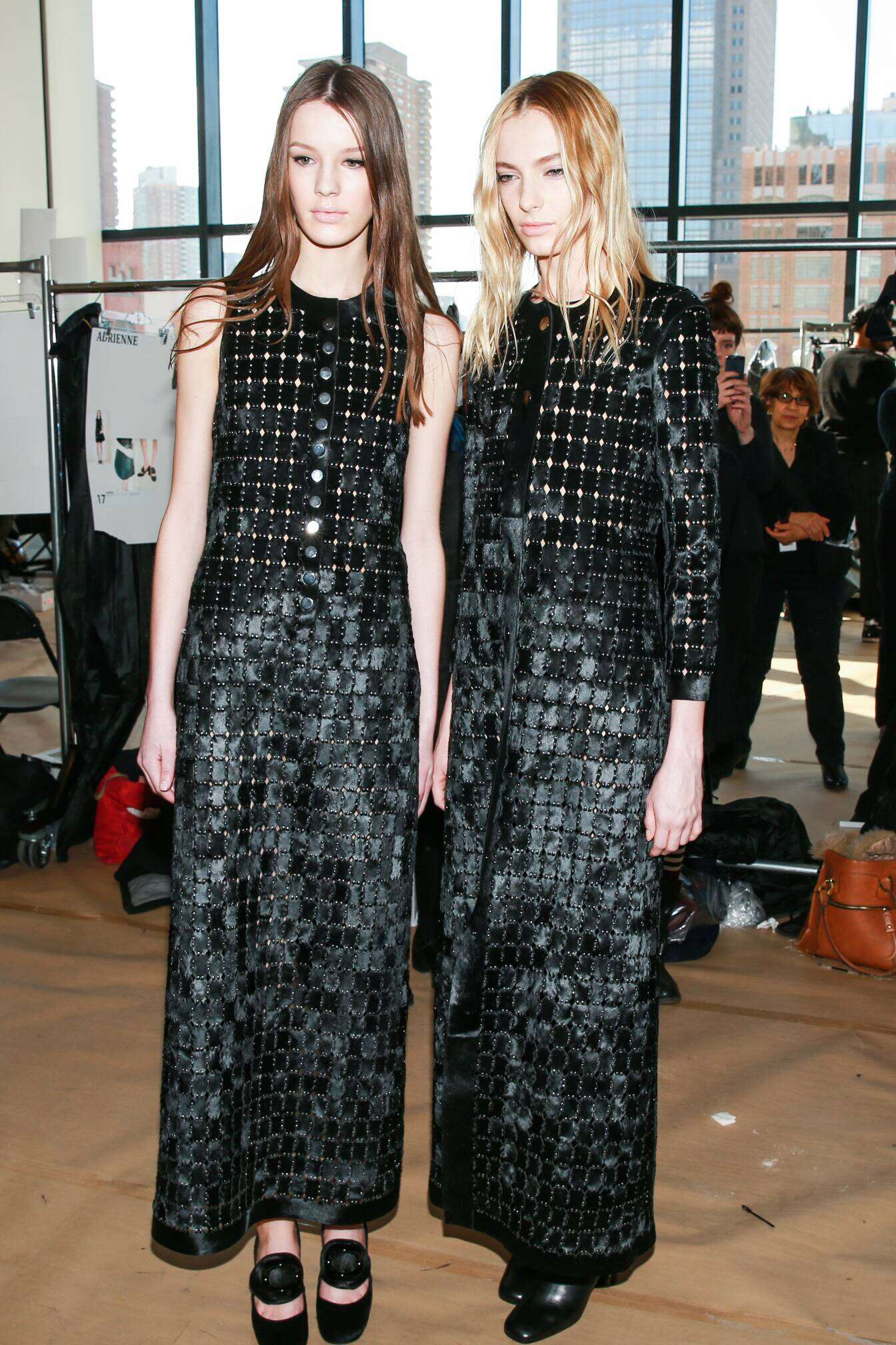 Fashion Models Backstage Calvin Klein FW 2015 New York Fashion Week