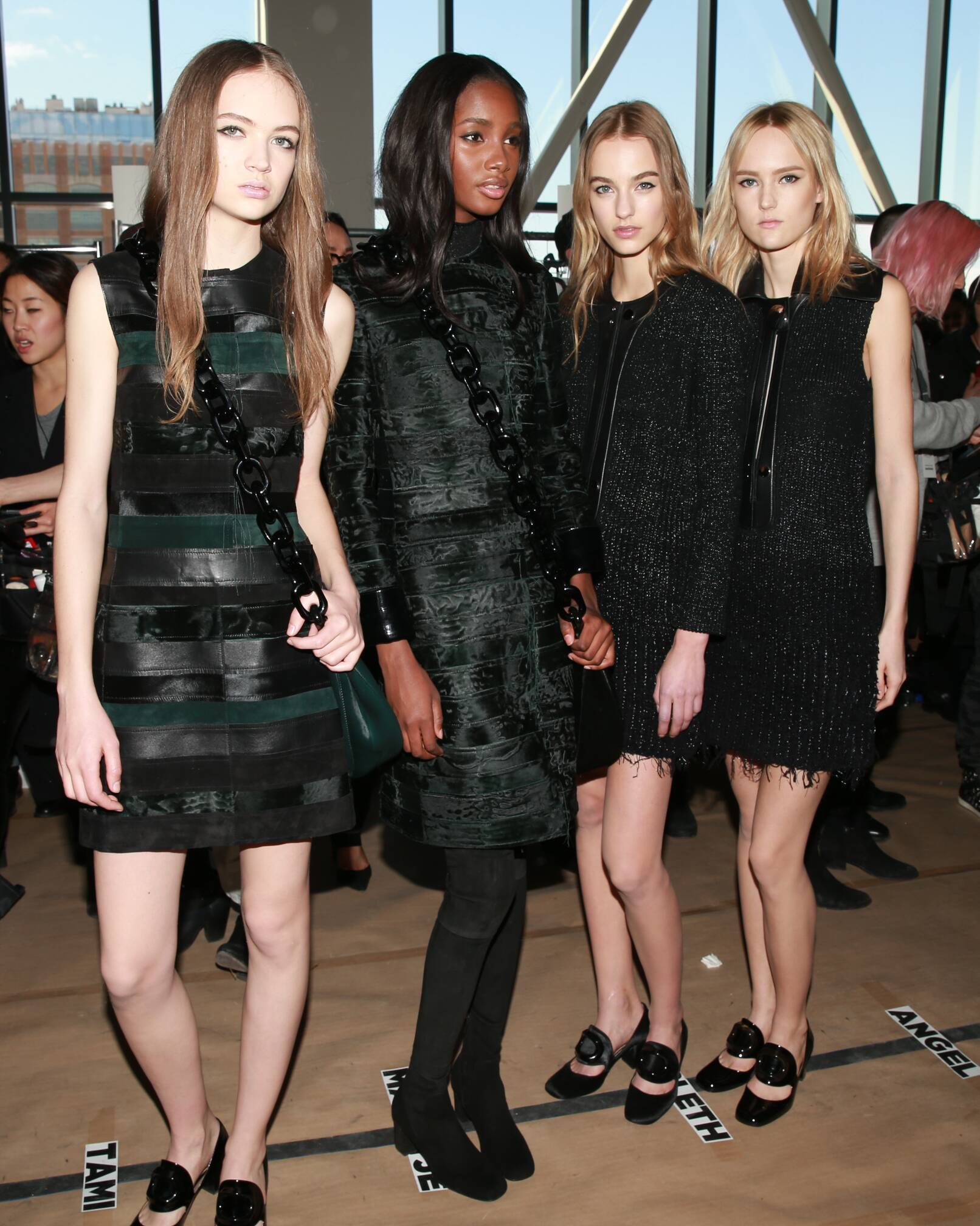 Fashion Models Backstage Calvin Klein FW 2015