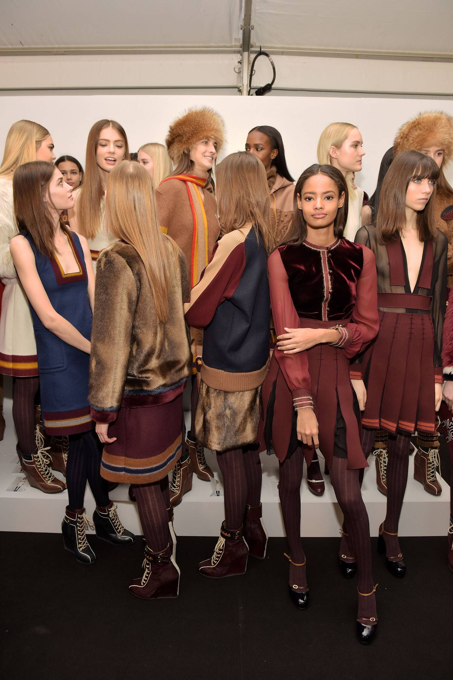Fashion Models Backstage Tommy Hilfiger FW 2015