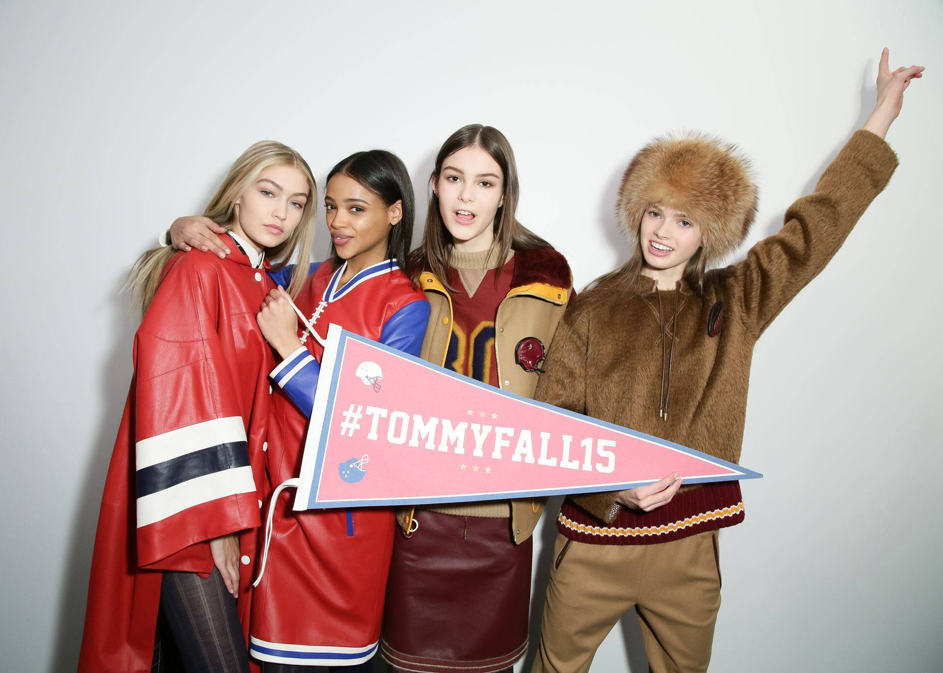 Fashion Models Backstage Tommy Hilfiger