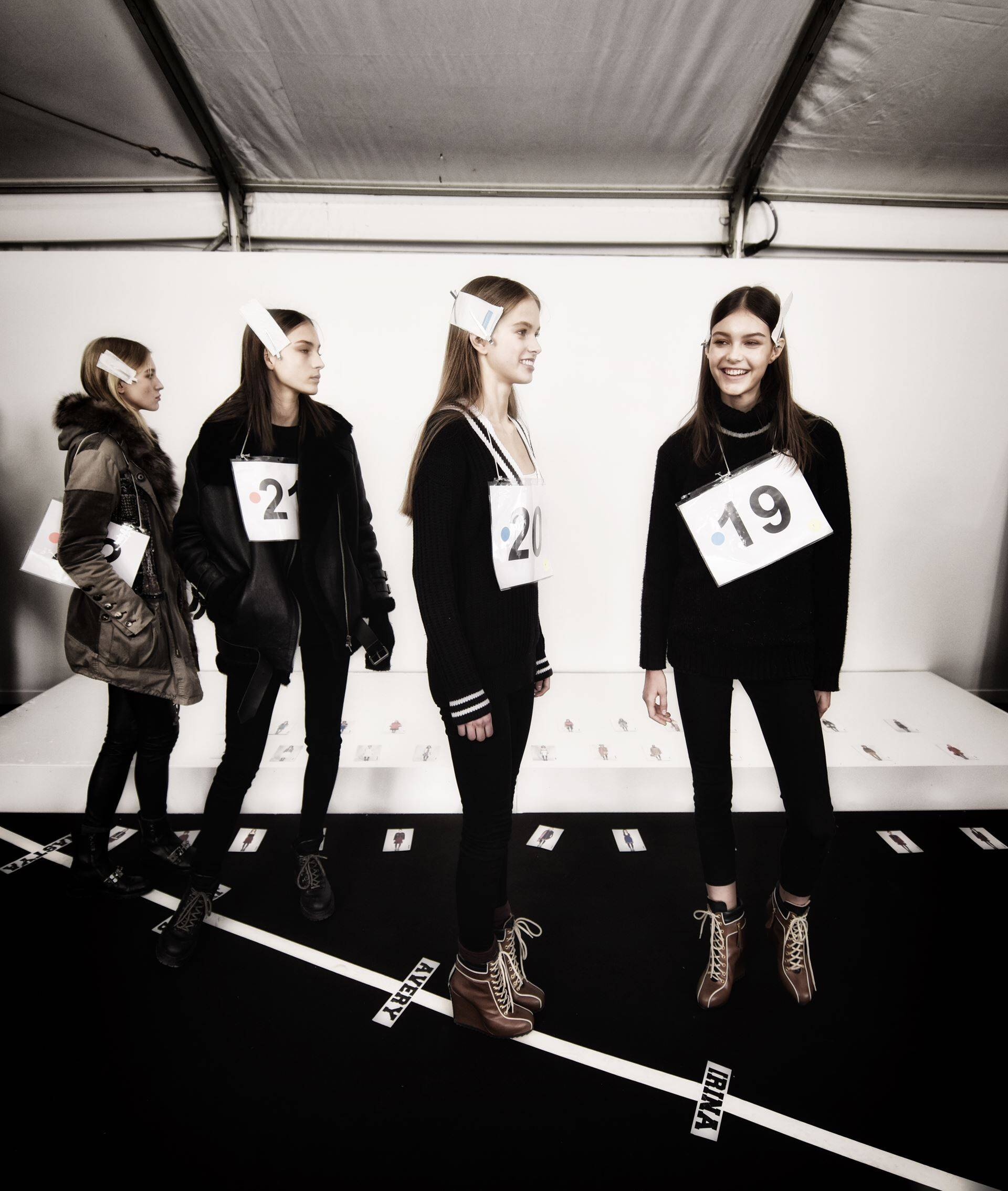 Fashion Models Tommy Hilfiger Backstage