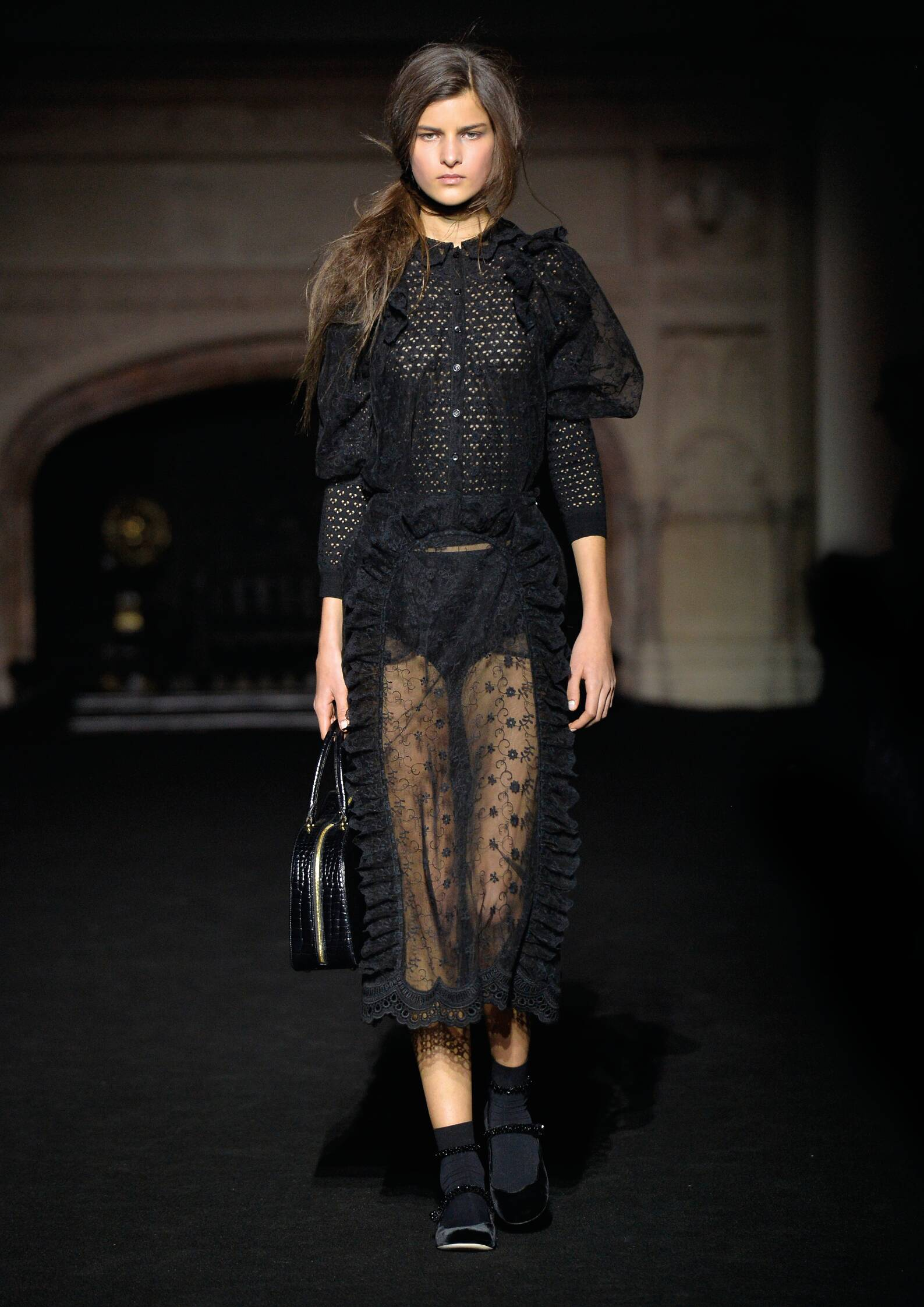 Fashion Woman Model Simone Rocha Collection Catwalk