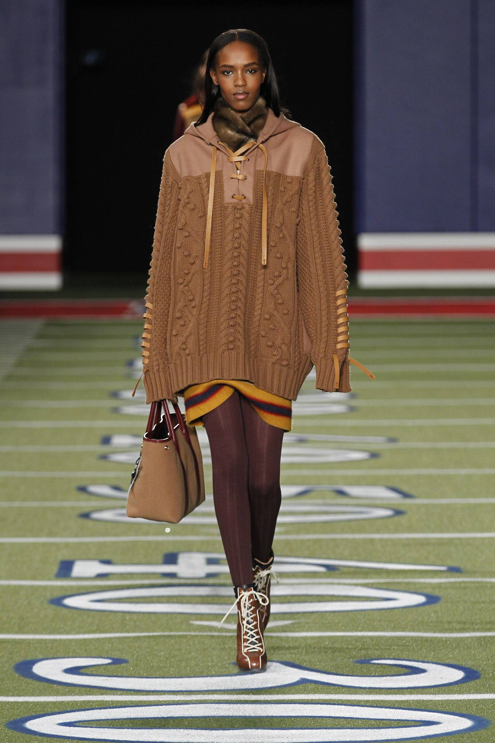 Fashion Woman Model Tommy Hilfiger Collection Catwalk