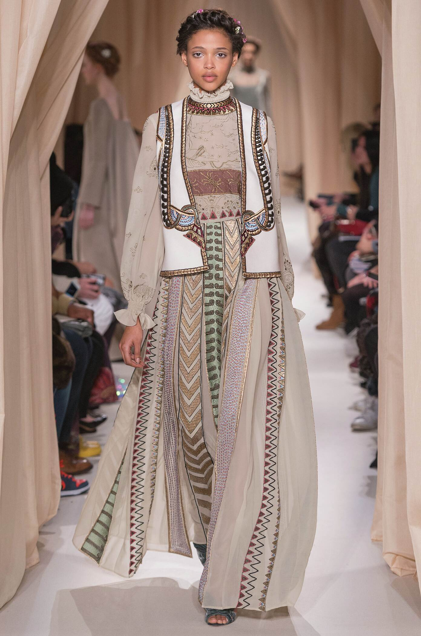 Fashion Woman Model Valentino Haute Couture Collection Catwalk