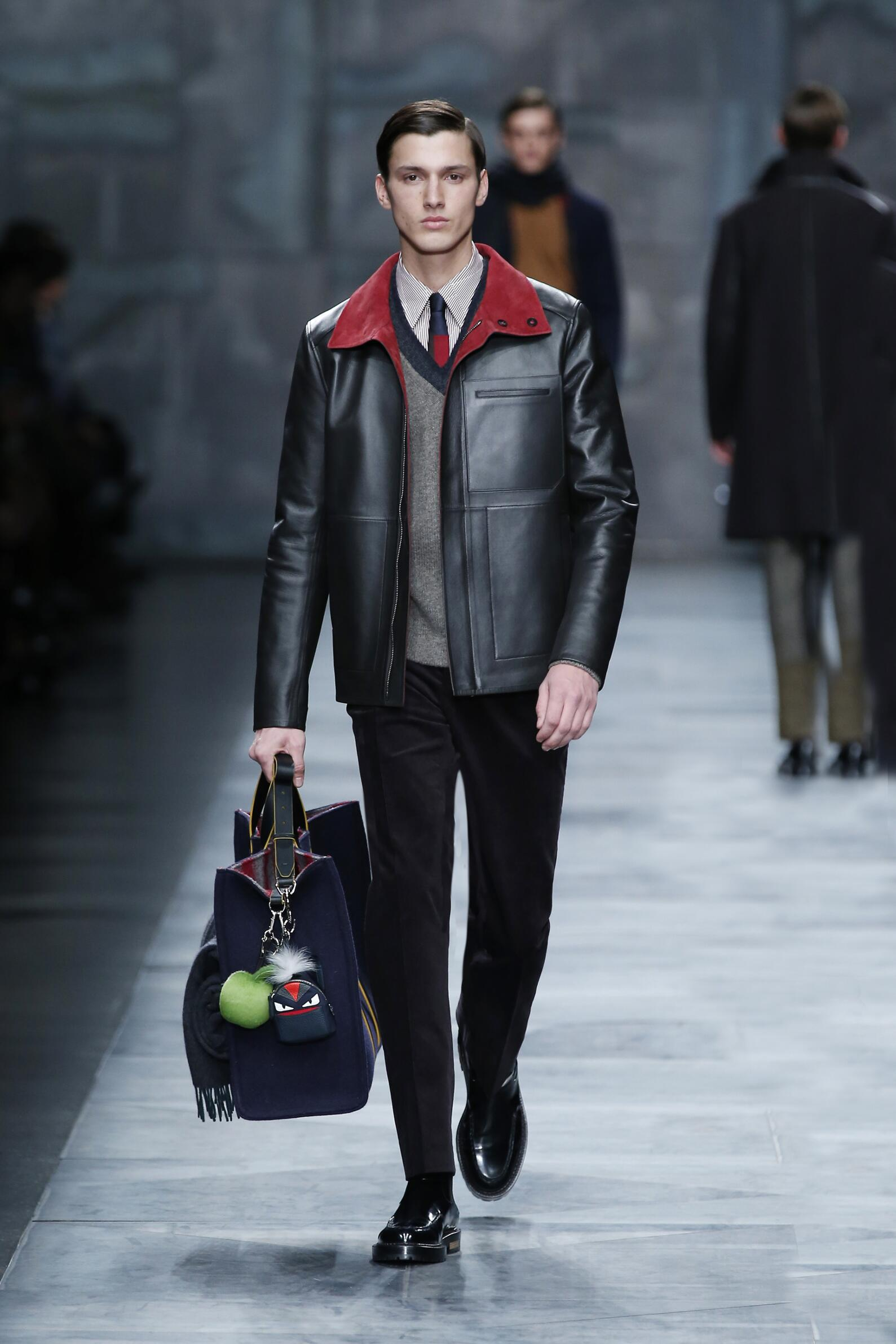 Fendi Collection Milano Fashion Week Menswear