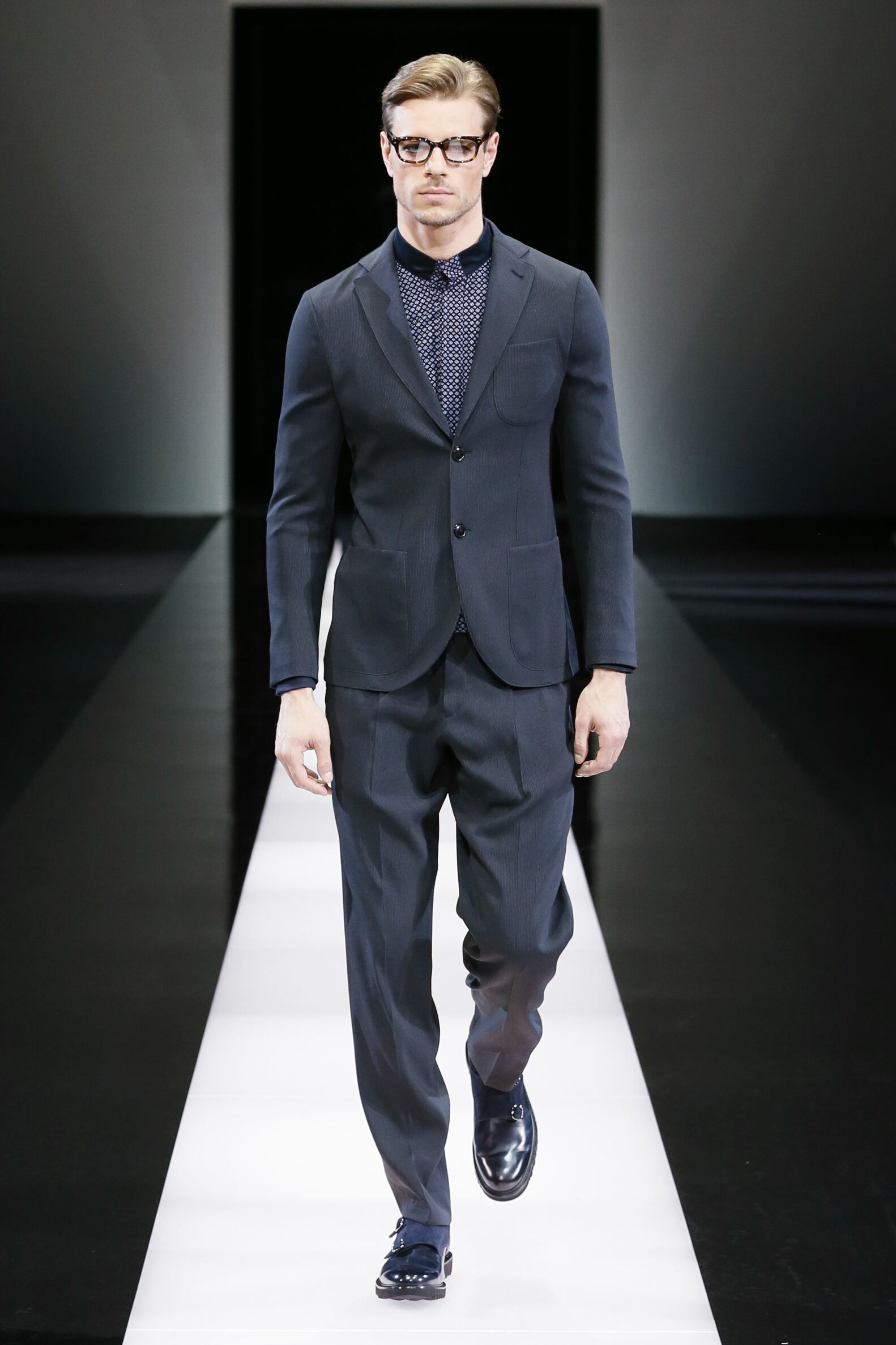 Giorgio Armani Collection Men's FW 2015 16 Fashion Show