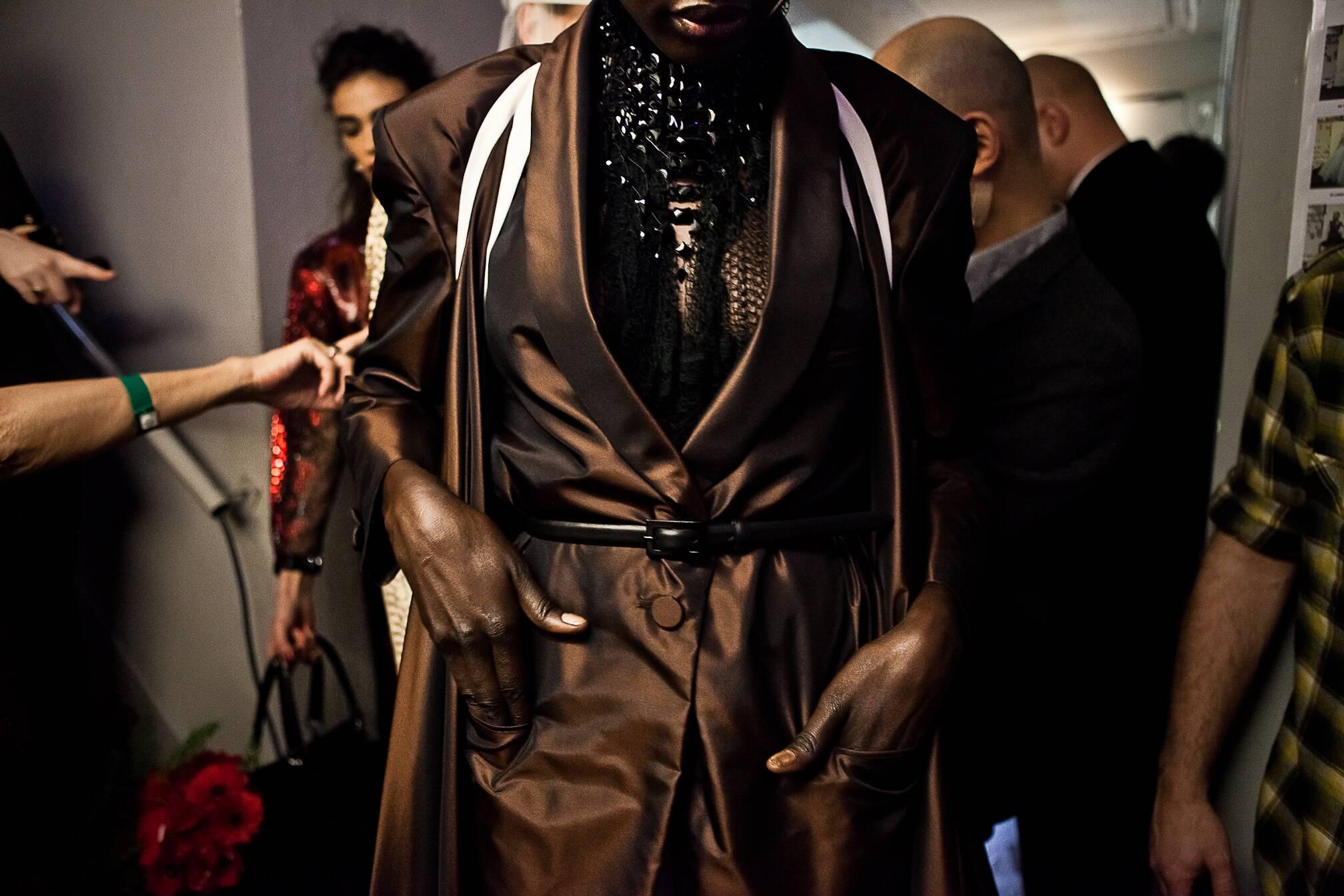 Jean Paul Gaultier Haute Couture Backstage SS 2015
