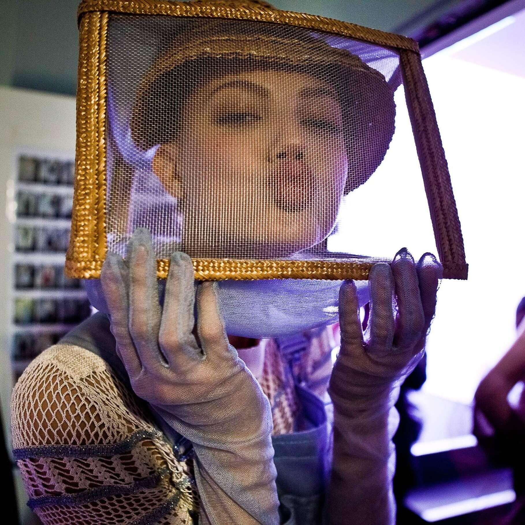 Model Backstage Jean Paul Gaultier Haute Couture 2015