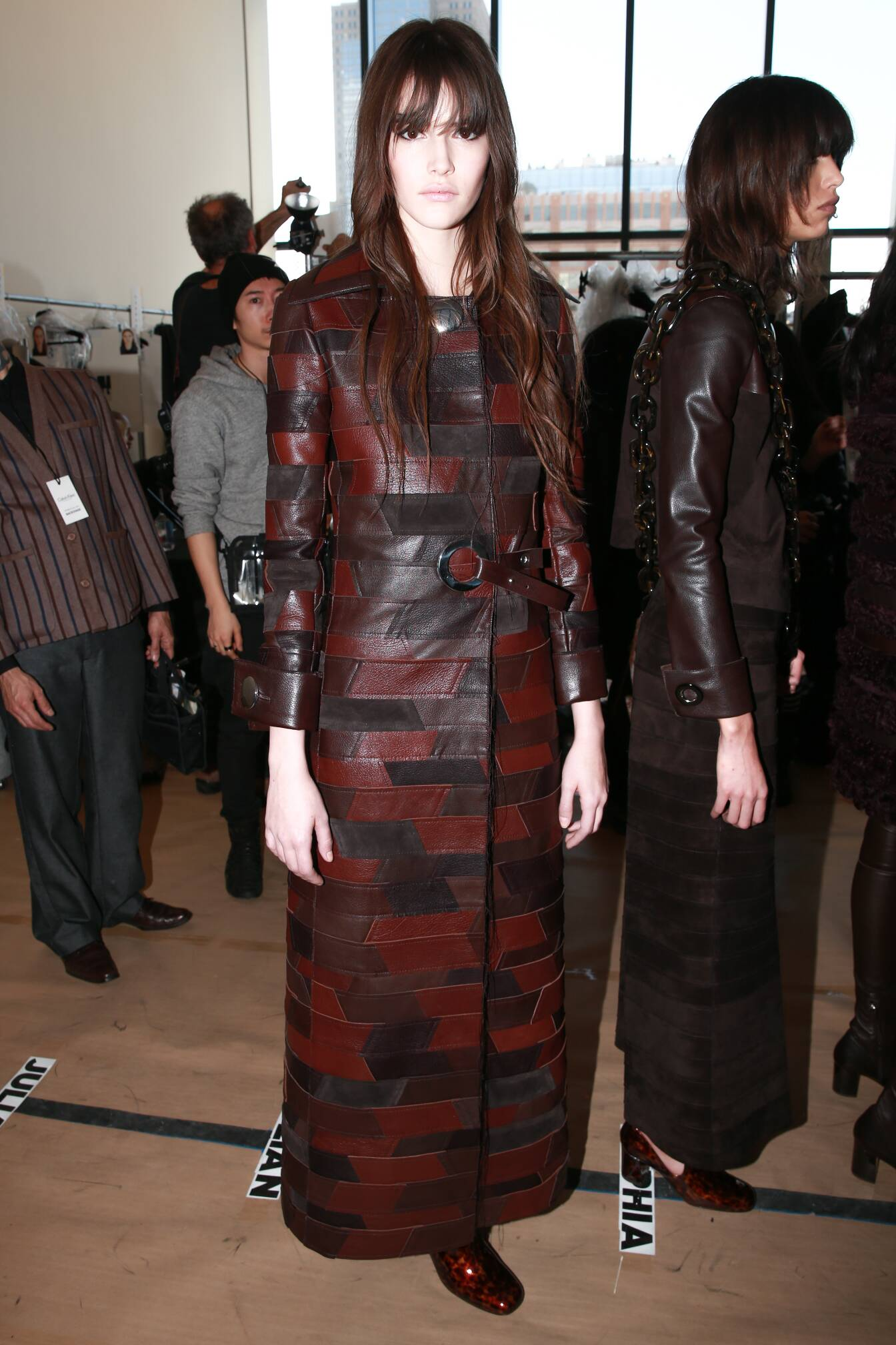 Model Calvin Klein Backstage Fall Winter 2015 New York