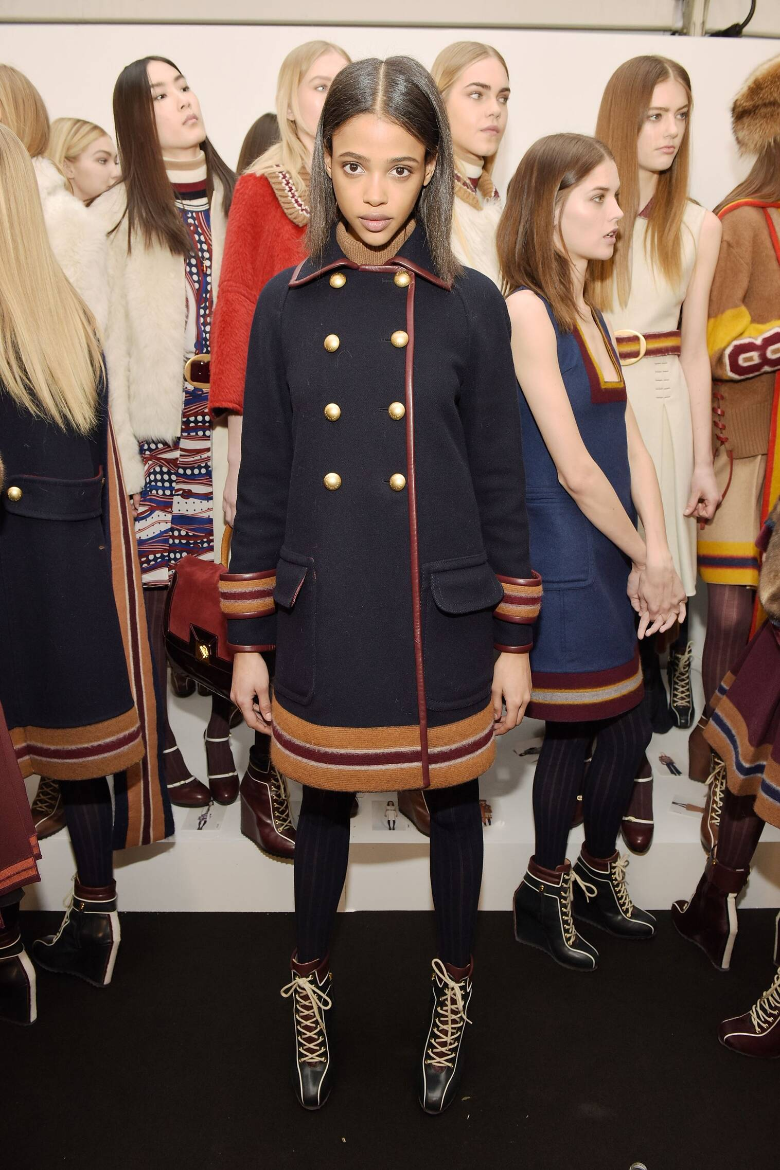 Model Tommy Hilfiger Backstage Fall Winter 2015