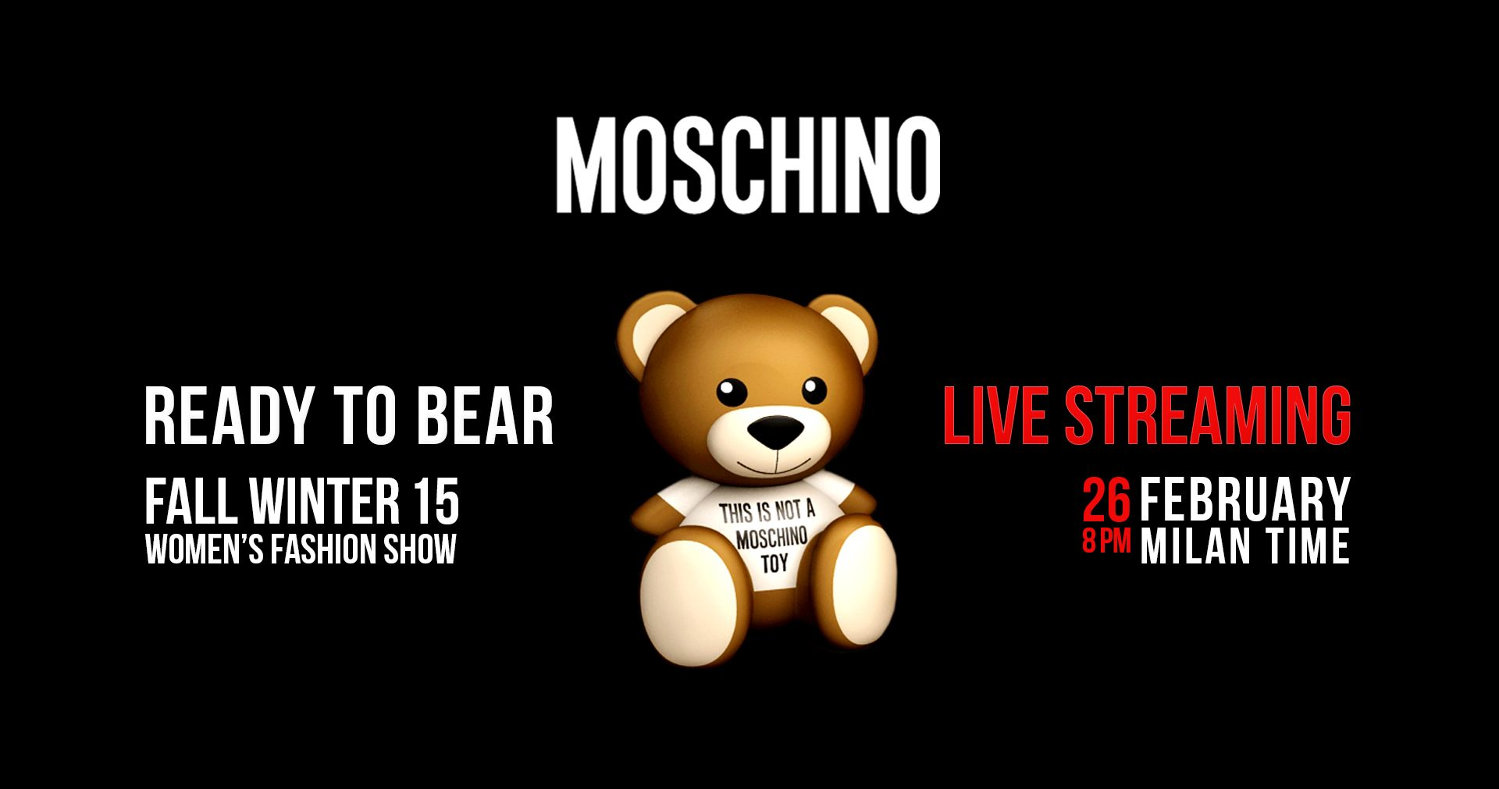 Moschino Fall Winter 2015-16 Womens Fashion Show Live Streaming Milan