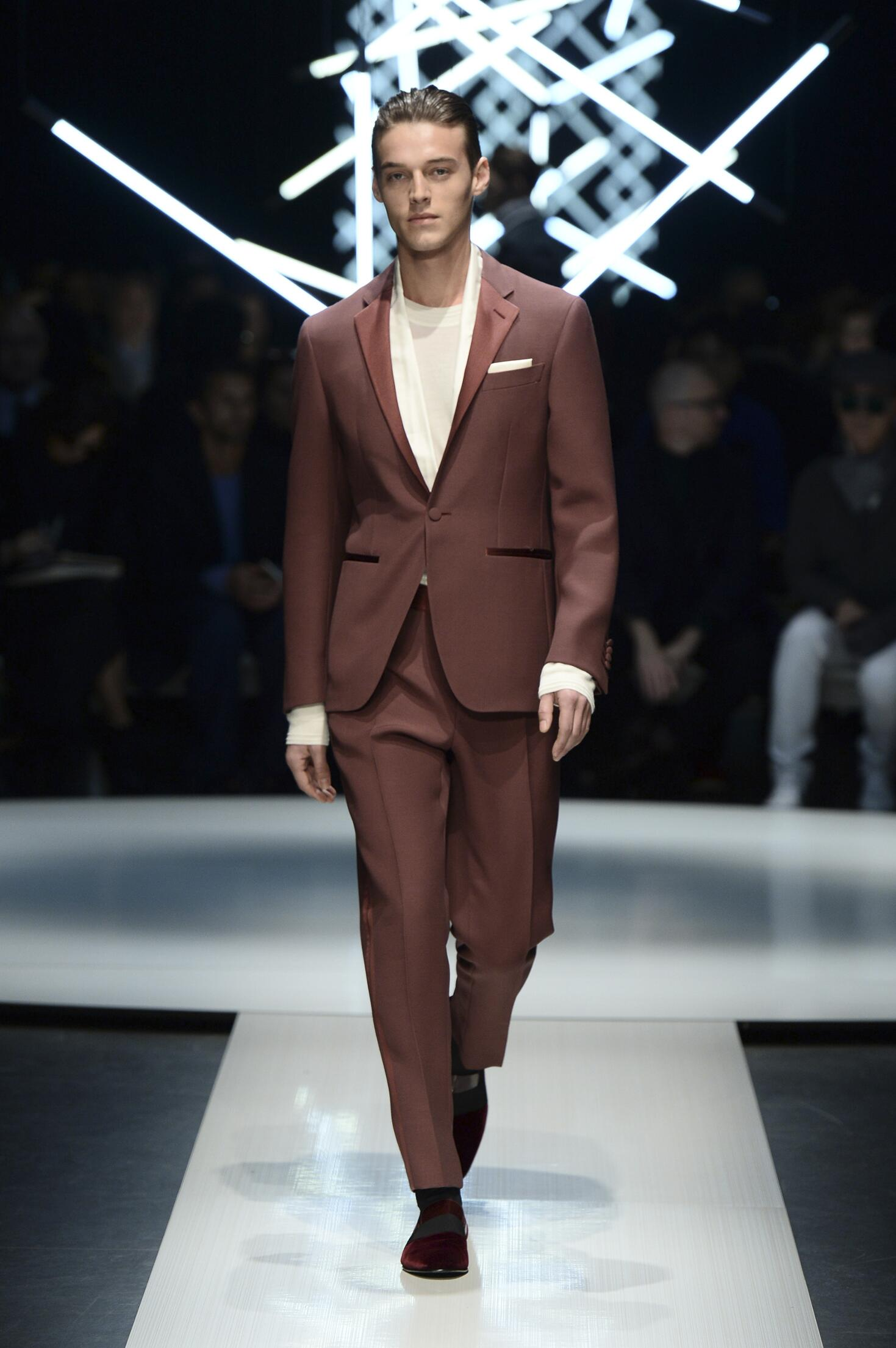 Runway Canali Fashion Show Winter 2015
