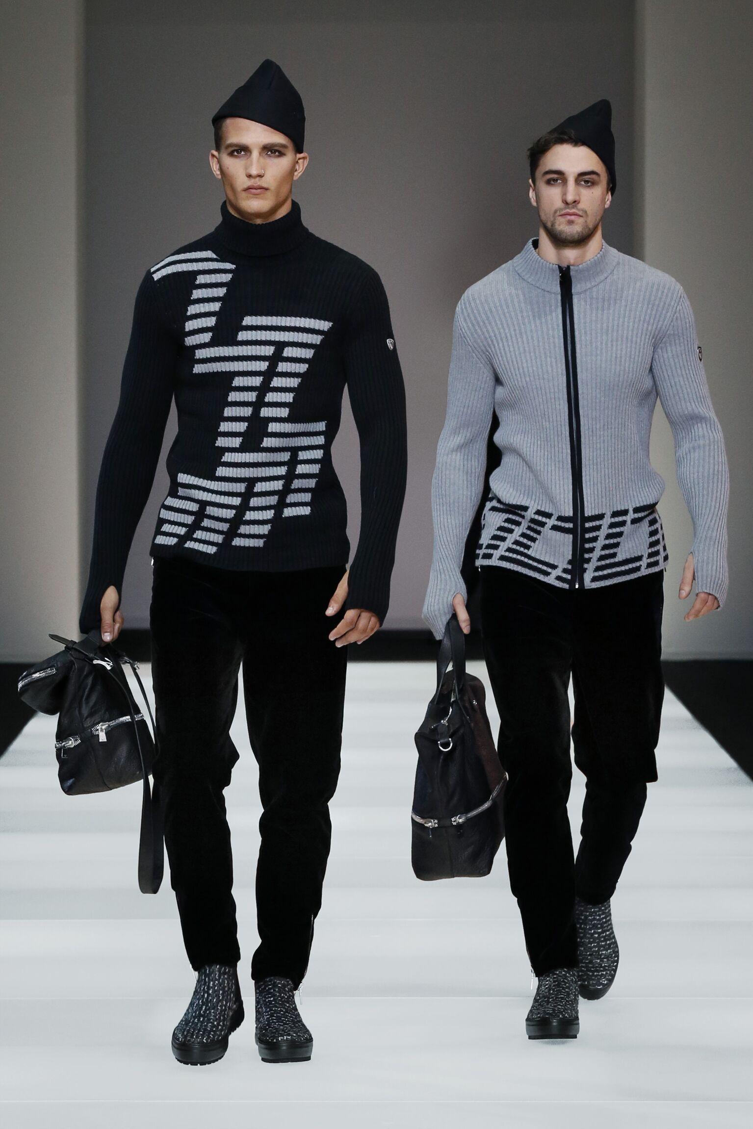 Runway Emporio Armani Fall Winter 2015 16 Men's Collection Milano Fashion Week