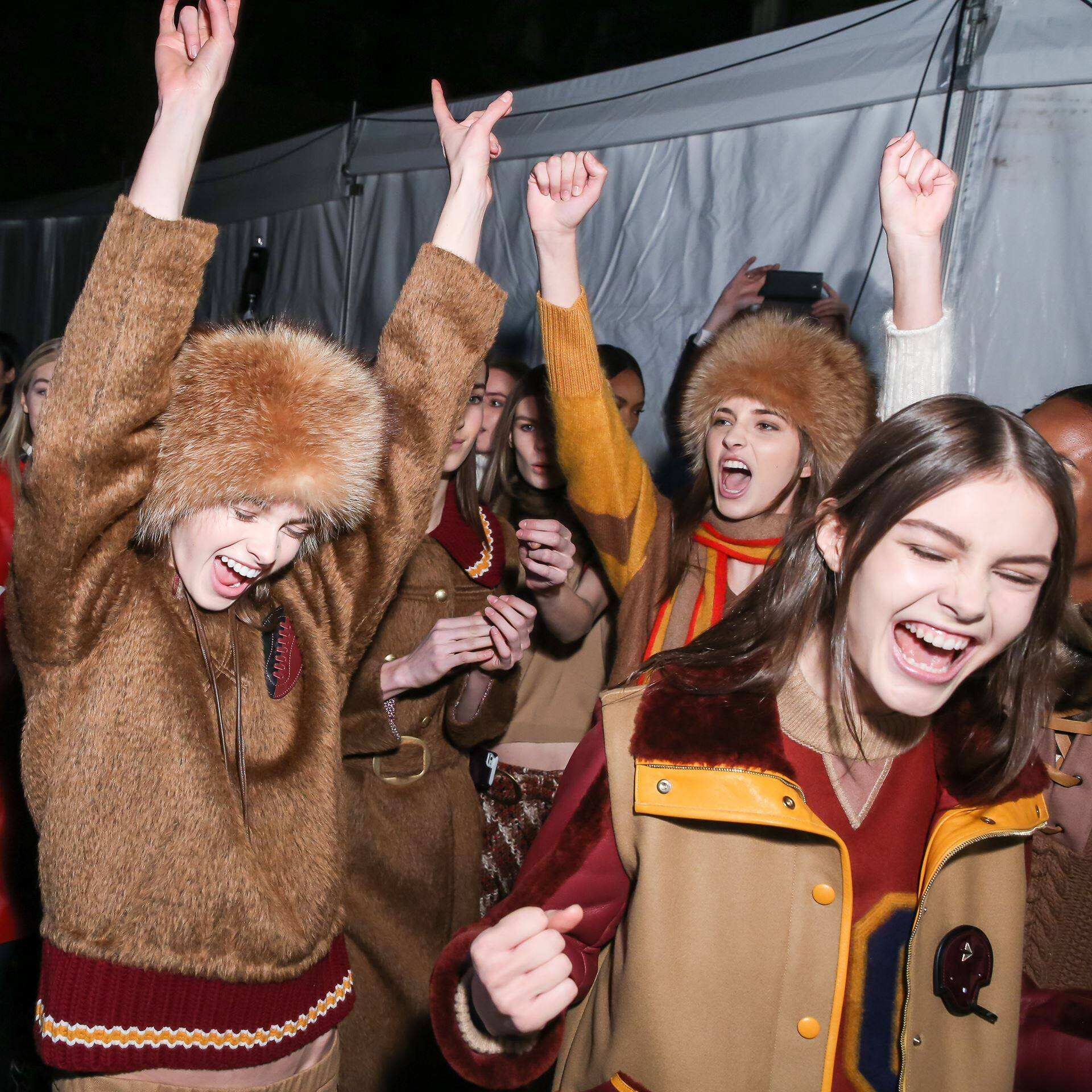 Tommy Hilfiger Backstage Fashion Models