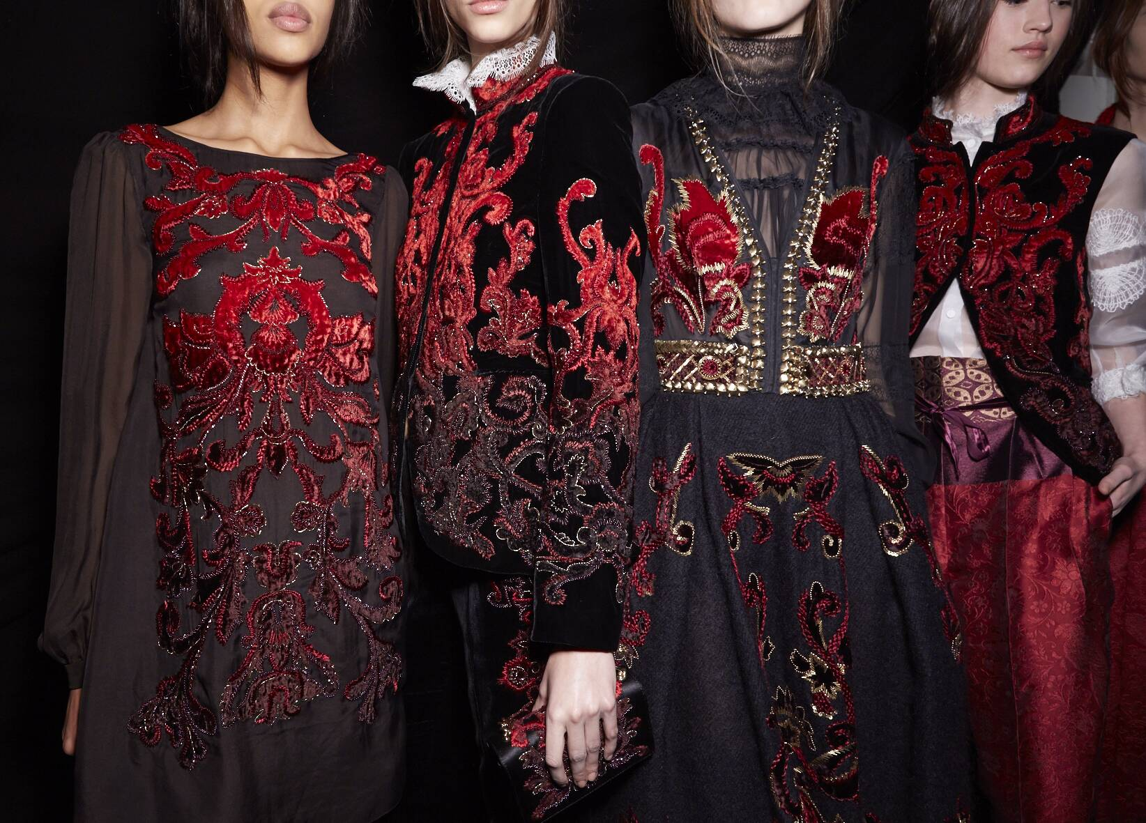 Alberta Ferretti Backstage Fashion Models