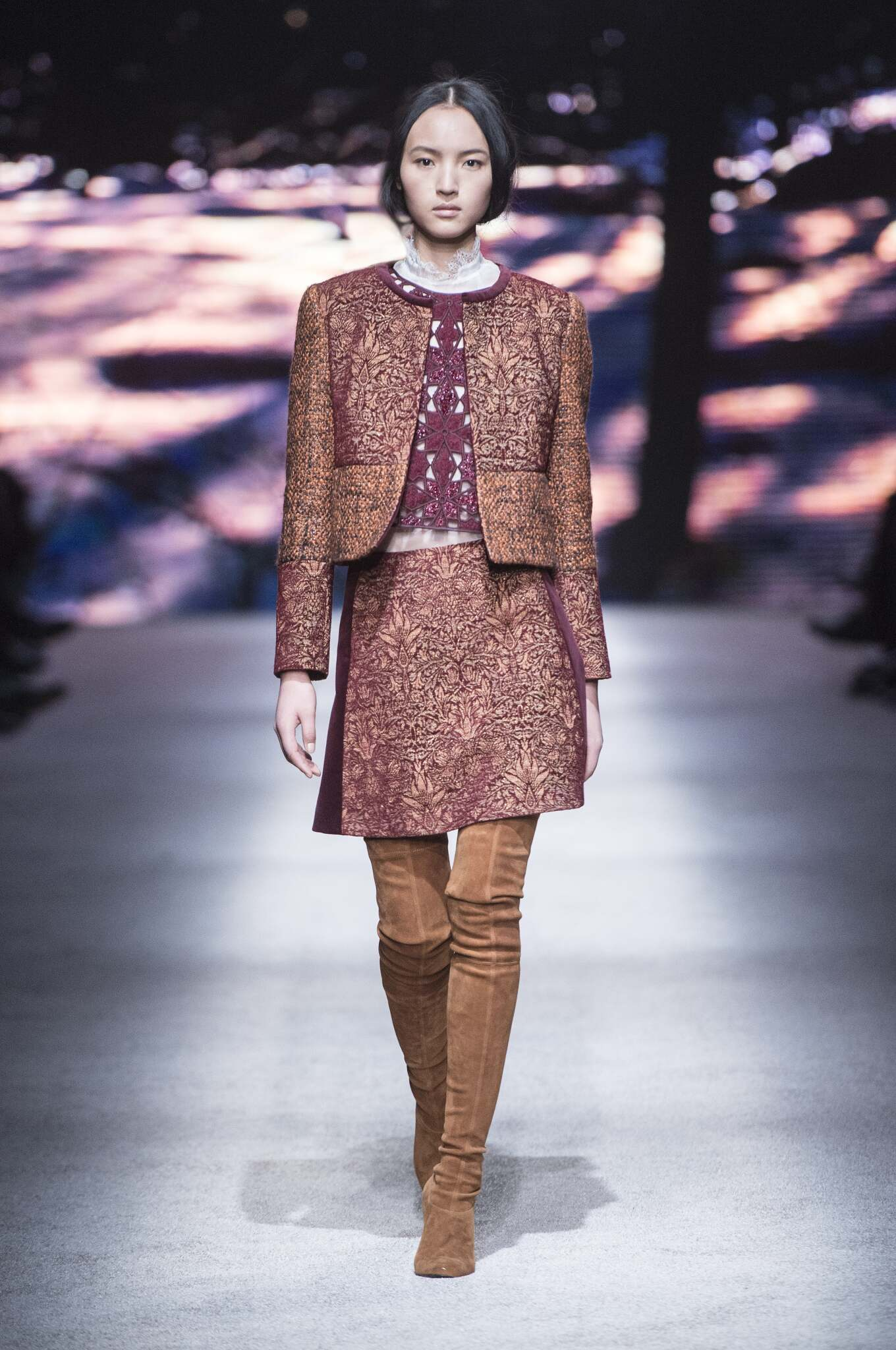 Alberta Ferretti Fall Winter 2015 16 Womenswear Collection Milan Fashion Week Fashion Show