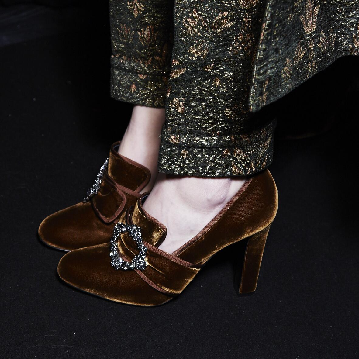 Backstage Alberta Ferretti Shoes Detail