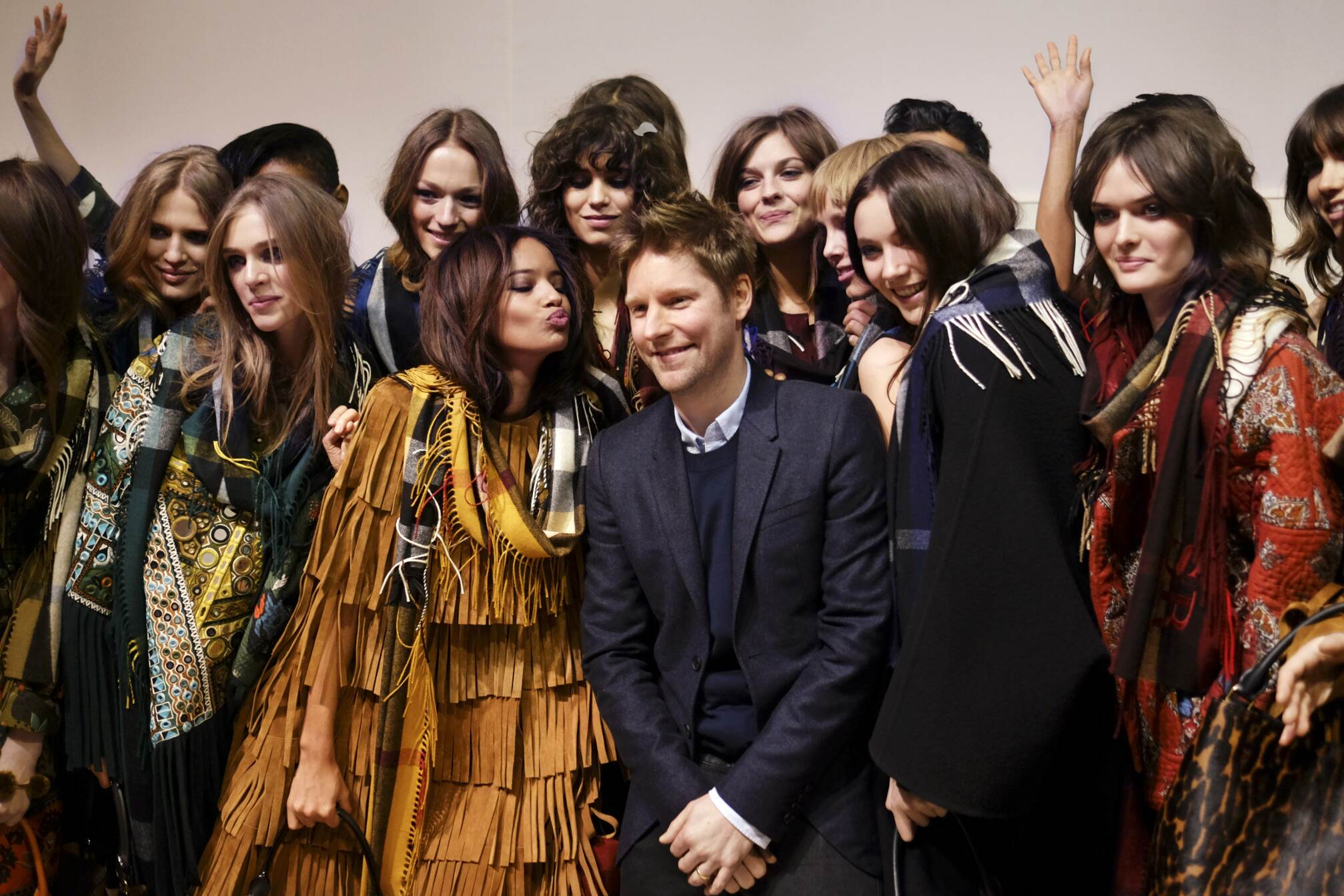 Backstage Burberry Prorsum 2015