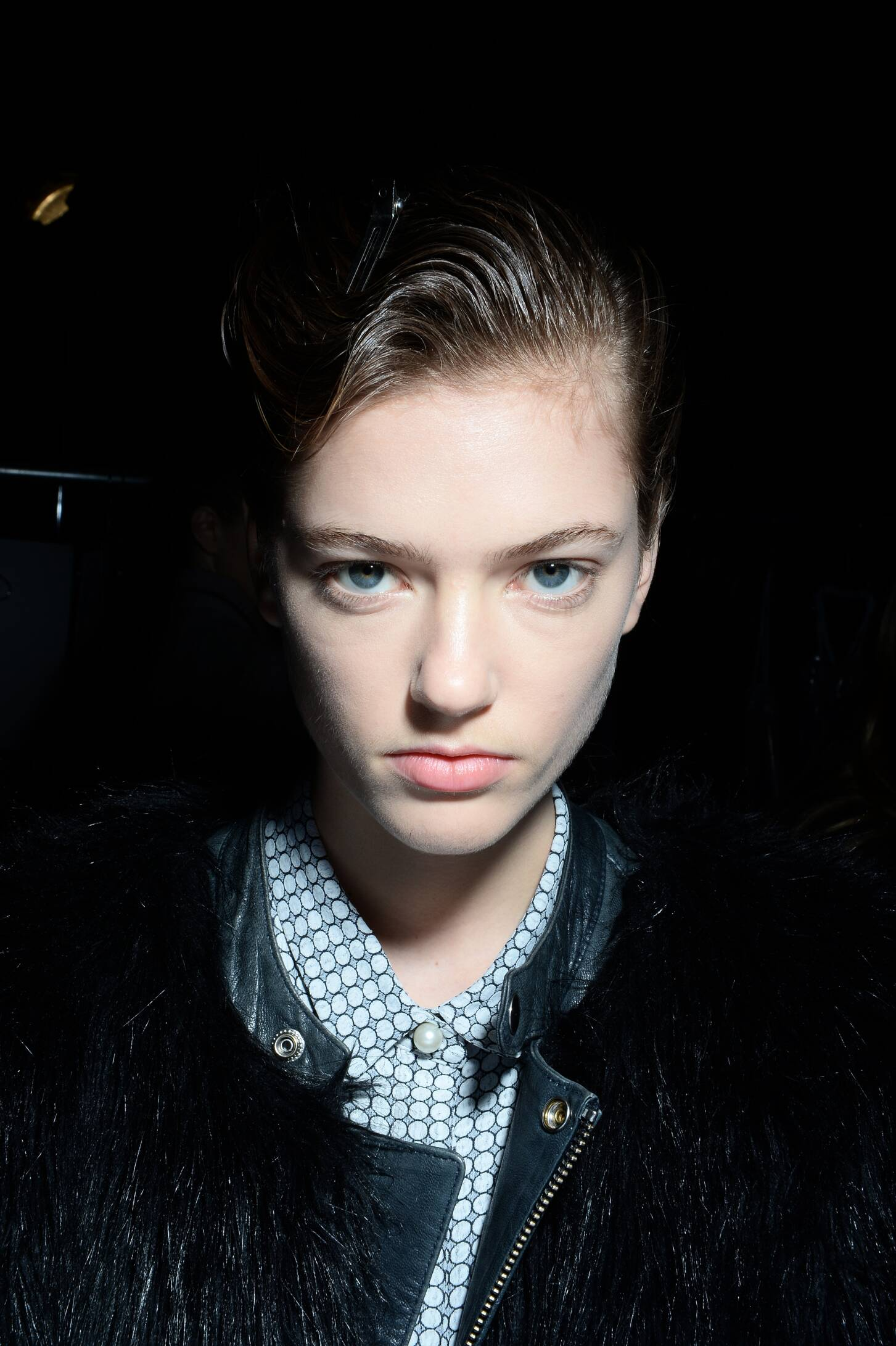 Backstage FW 2015 Fashion Model Diesel Black Gold